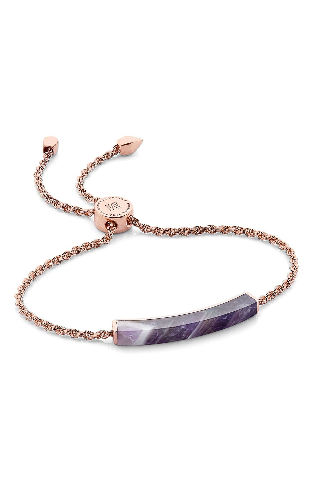 Monica Vinader Linear Semiprecious Stone Friendship Bracelet (Nordstrom Exclusive)
