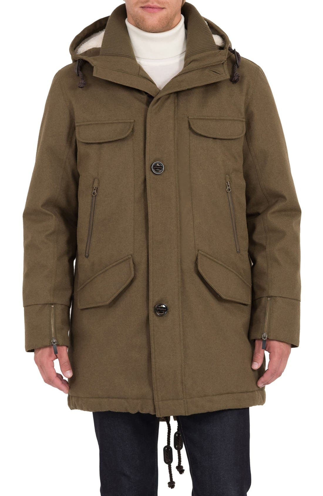 Fishtail Parka,                             Main thumbnail 1, color,                             Military