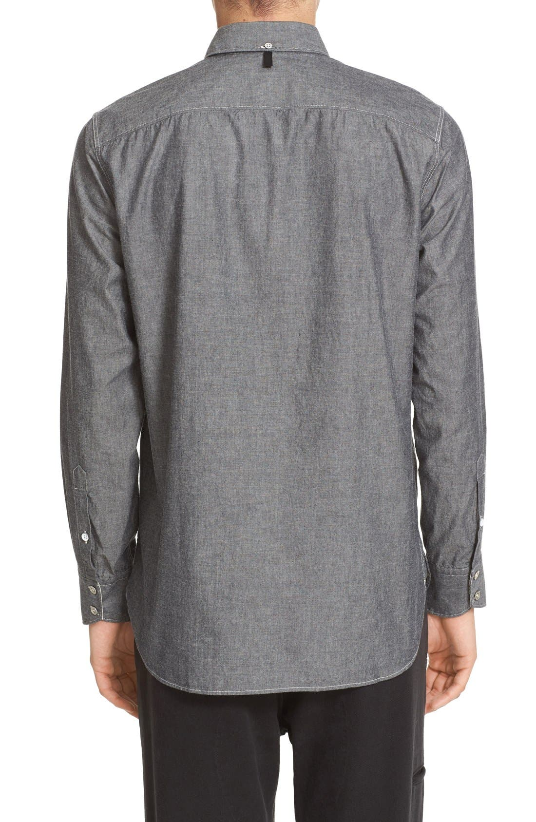 Alternate Image 2  - rag & bone Trim Fit Chambray Shirt