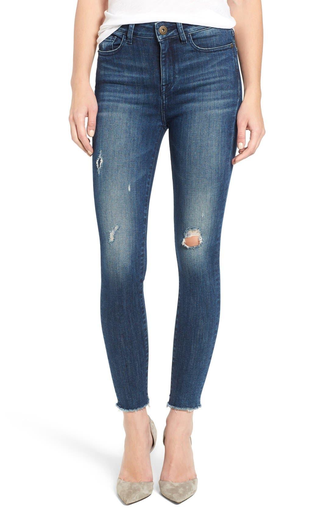 DL1961 Ryan High Waist Skinny Jeans (Stingrey) (Petite)