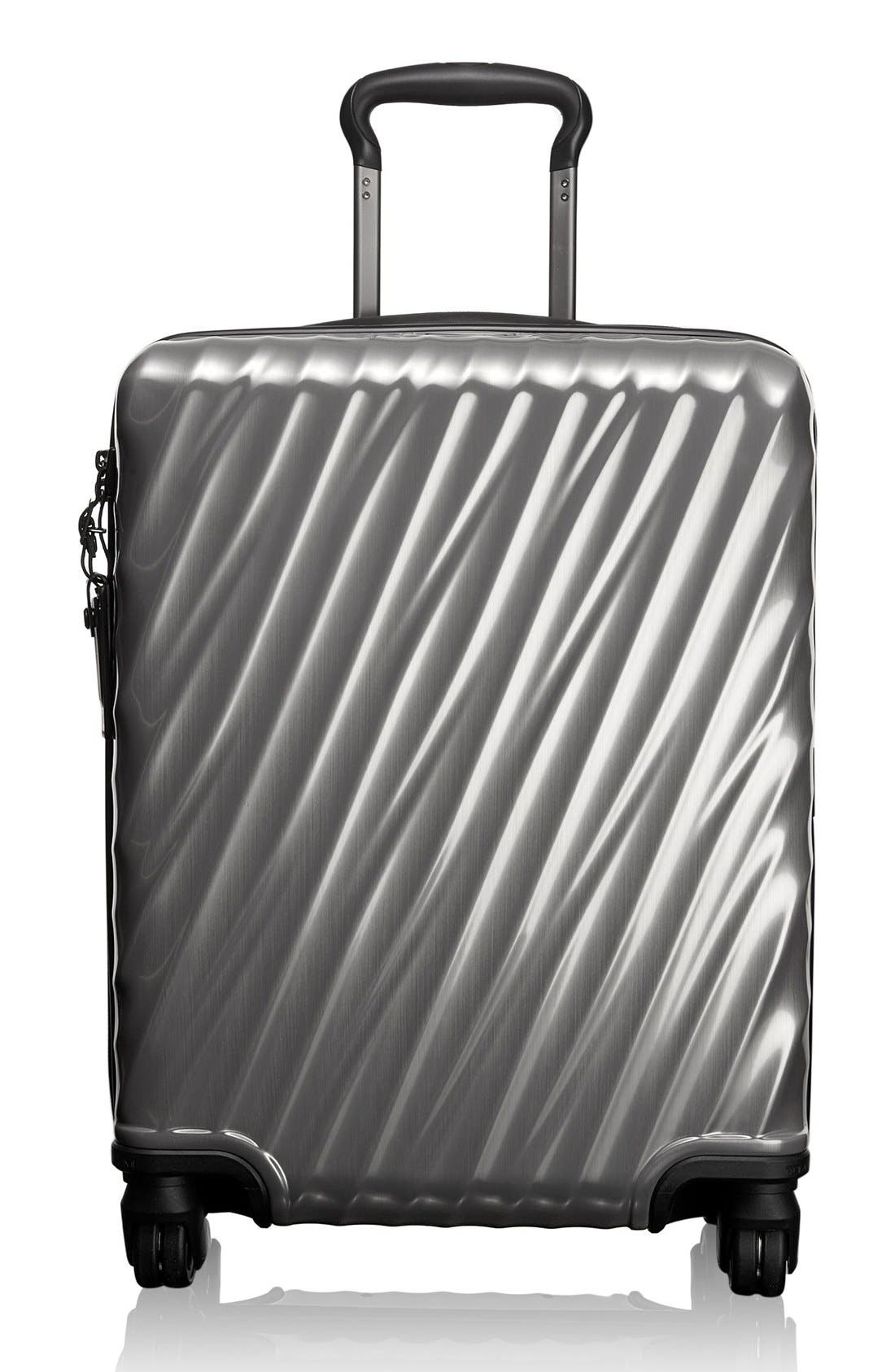 19 Degree 22 Inch Continental Wheeled Carry-On,                         Main,                         color, Silver