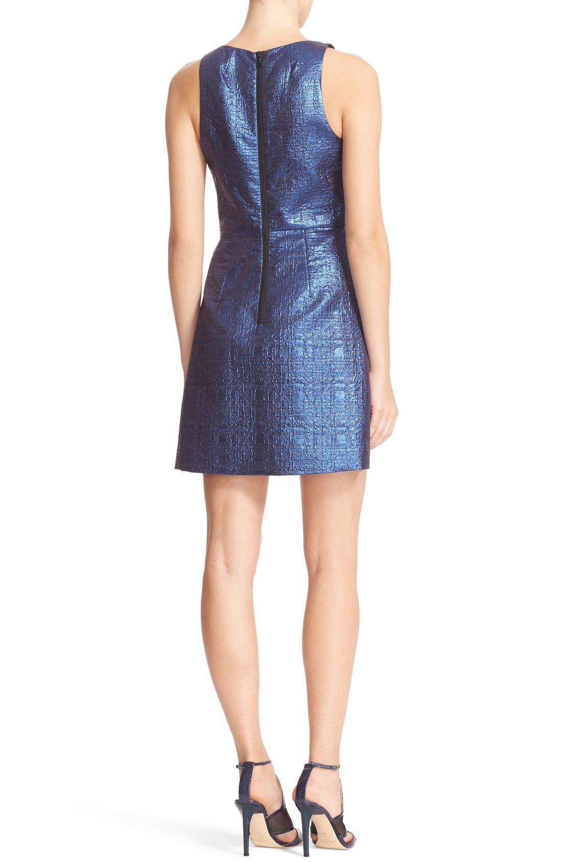 Alternate Image 2  - Milly Metallic Jacquard A-Line Dress