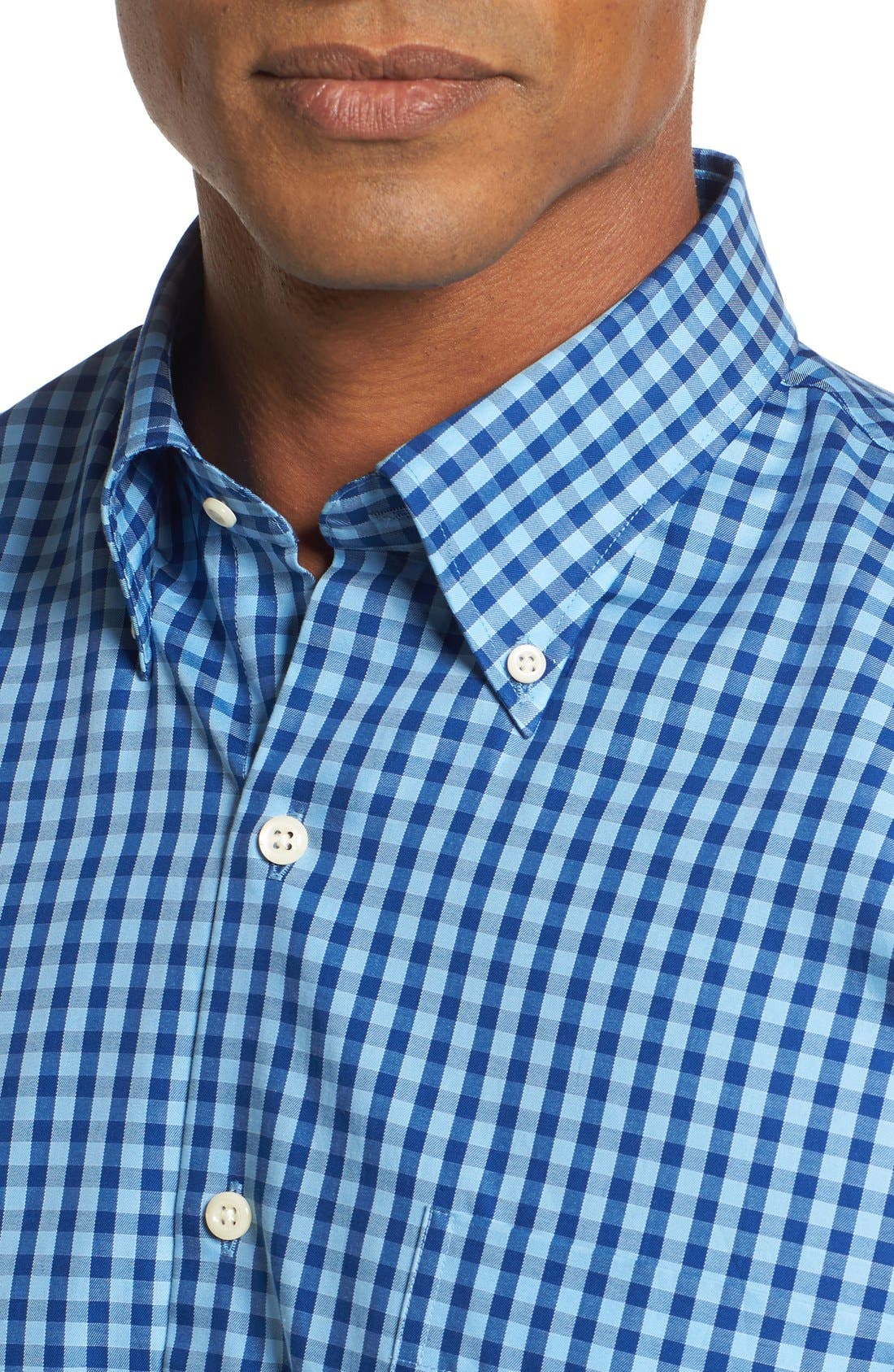 Alternate Image 4  - Peter Millar Regular Fit Check Sport Shirt