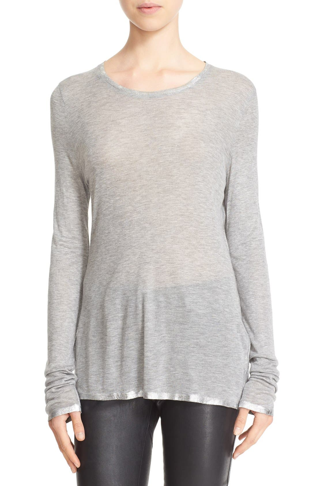 Willy Foil Tee,                         Main,                         color, Gris Chine