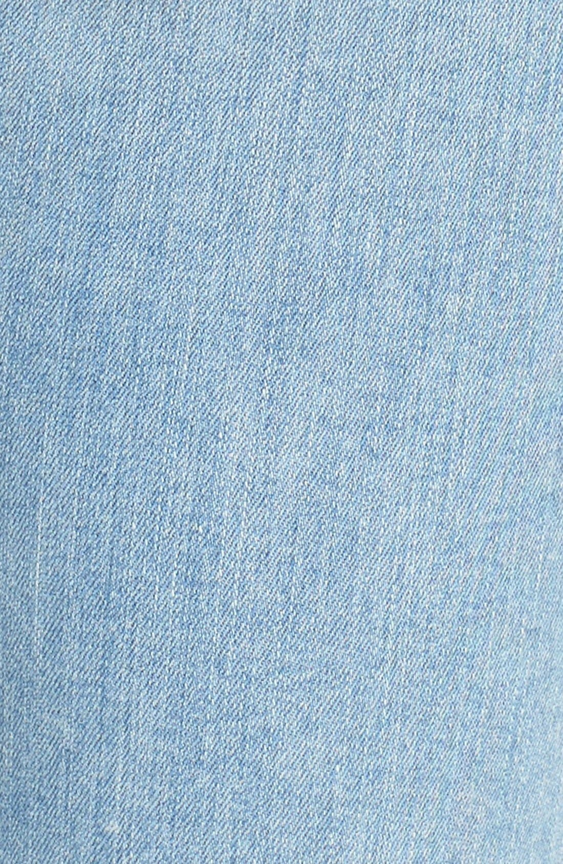 Good Legs High Rise Ripped Skinny Jeans,                             Alternate thumbnail 9, color,                             Blue 008