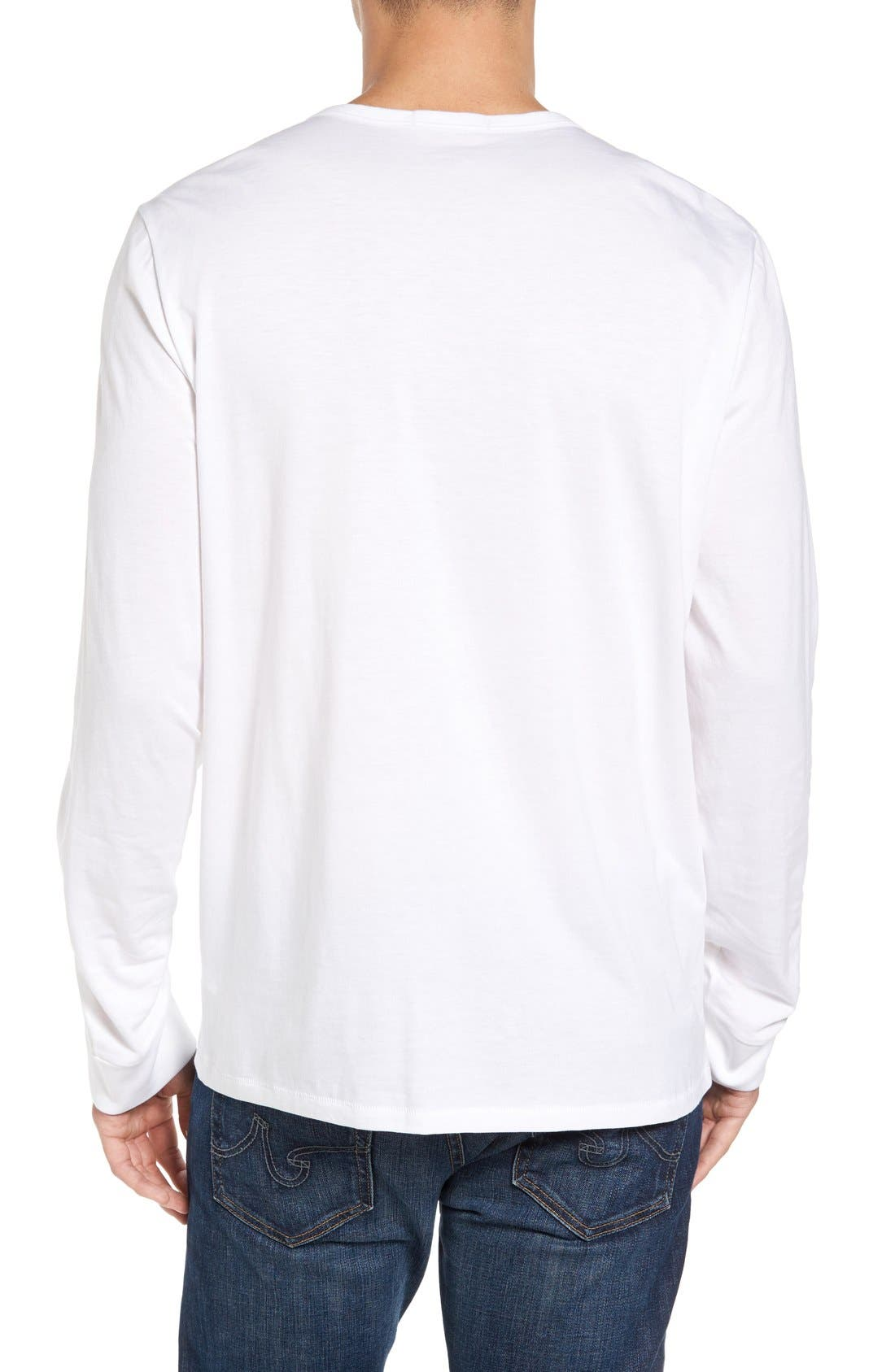 Classic Henley,                             Alternate thumbnail 2, color,                             White