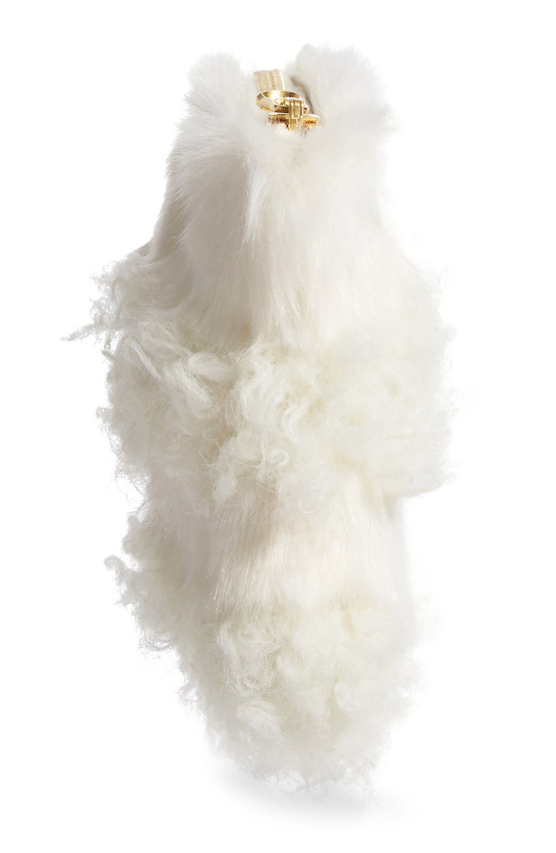 Alternate Image 5  - Shrimps Jenny Faux Shearling Clutch (Nordstrom Exclusive)