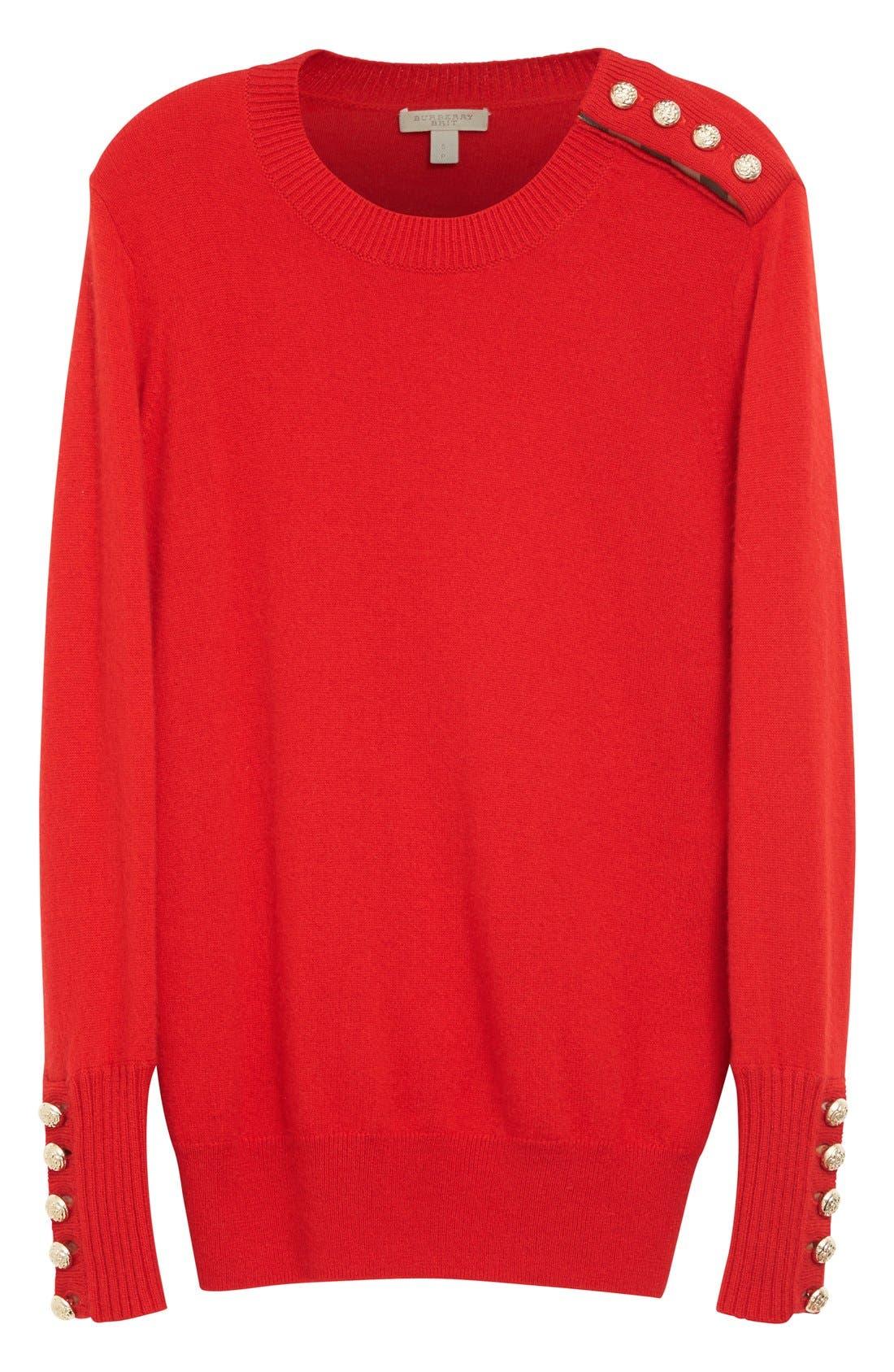 Alternate Image 5  - Burberry Meesebrook Cashmere Sweater