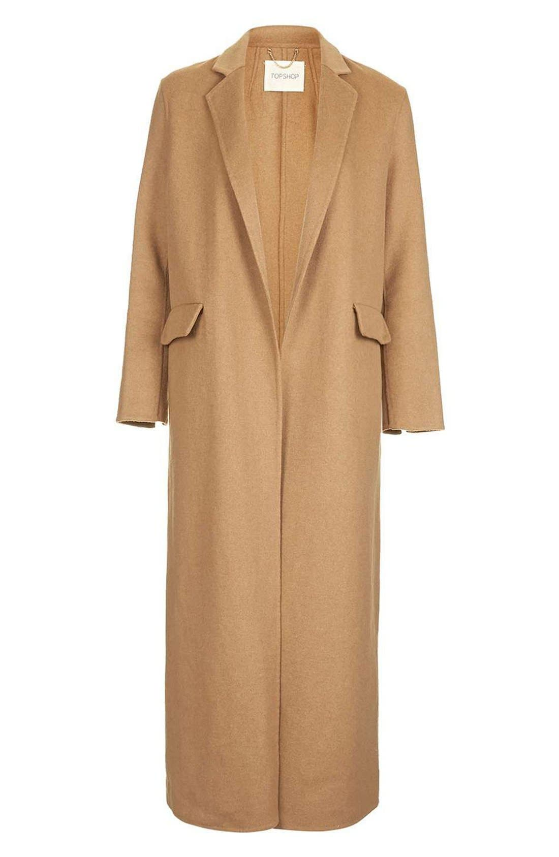 Alternate Image 4  - Topshop Butted Seam Duster Coat