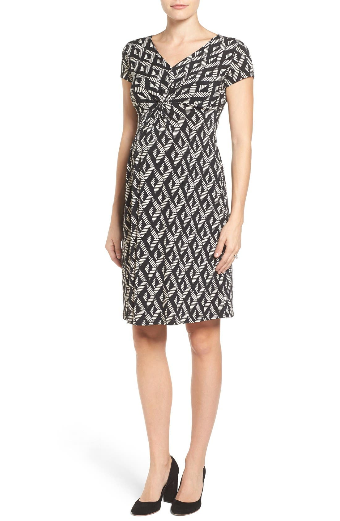 Alternate Image 1 Selected - Leota Twist Front Maternity Dress