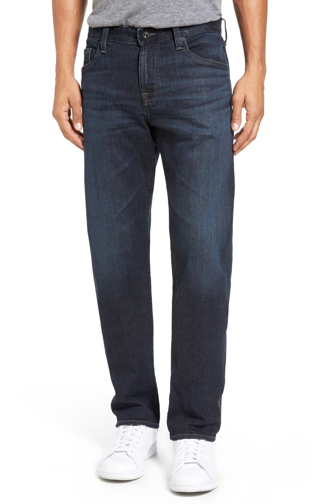 Alternate Image 1 Selected - AG Graduate Slim Straight Leg Jeans (Rockwell)