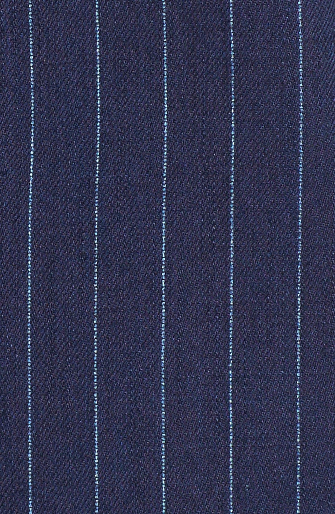 Windsor Pinstripe Cotton Twill Vest,                             Alternate thumbnail 5, color,                             Navy
