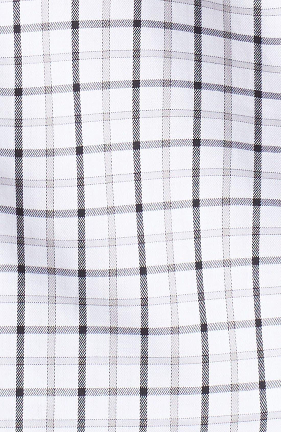 Regular Fit Tattersall Plaid Sport Shirt,                             Alternate thumbnail 5, color,                             Black