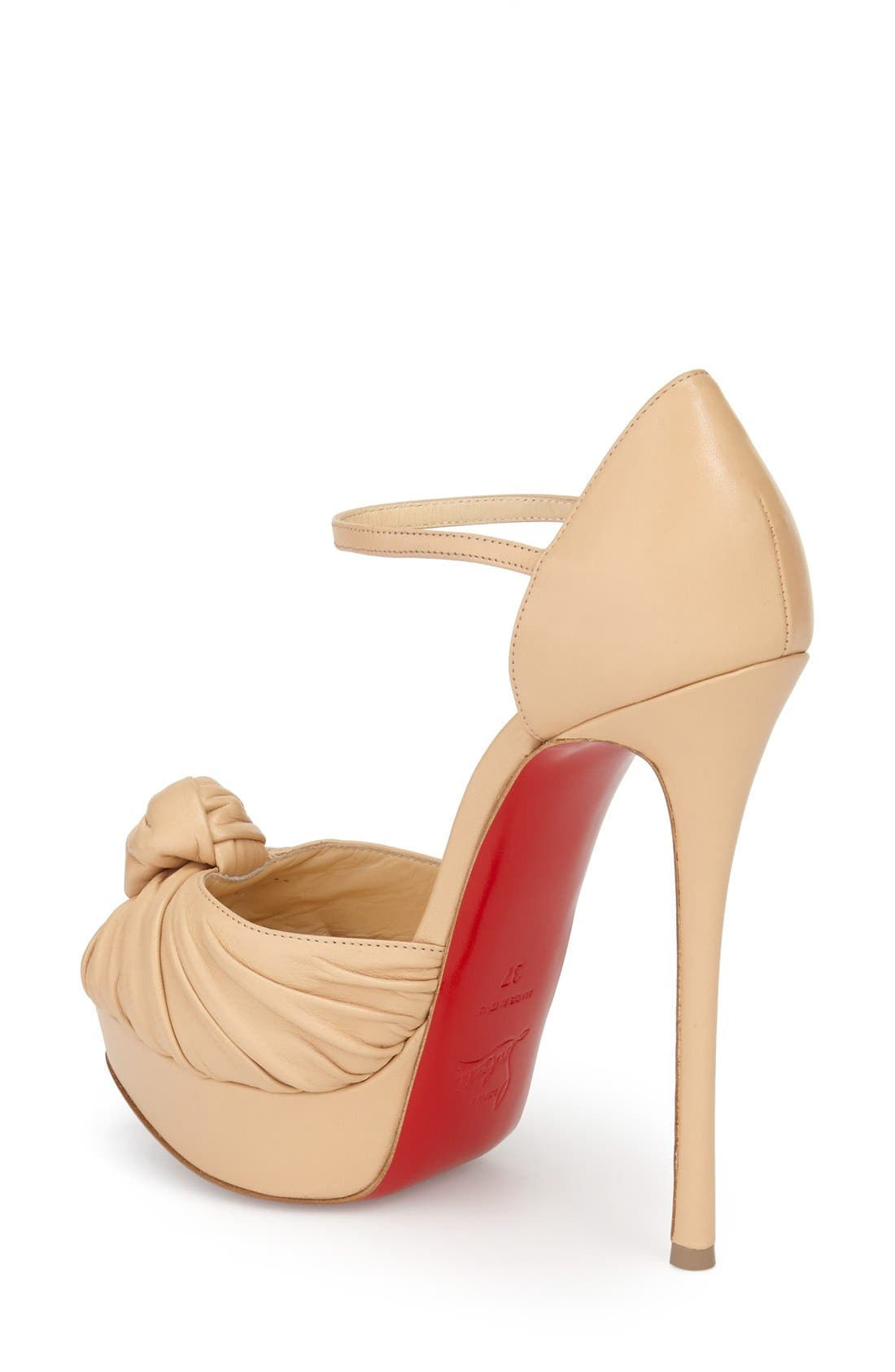 Marchavekel Knot Sandal,                             Alternate thumbnail 2, color,                             Nude Leather