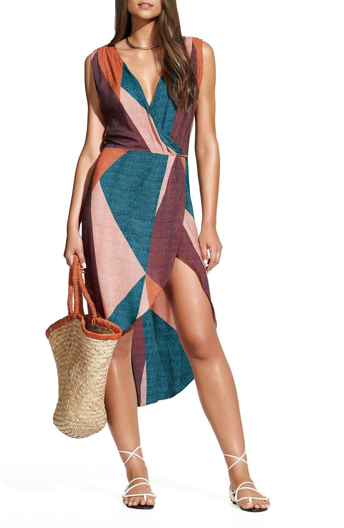 Alternate Image 1 Selected - ViX Swimwear Ananda Gisele Colorblock Caftan
