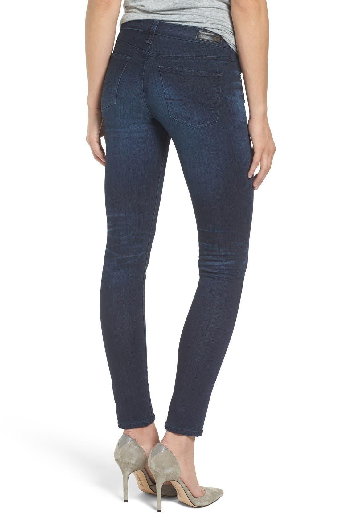 Alternate Image 2  - AG 'The Stilt' Cigarette Skinny Jeans (3 Year Imagination)