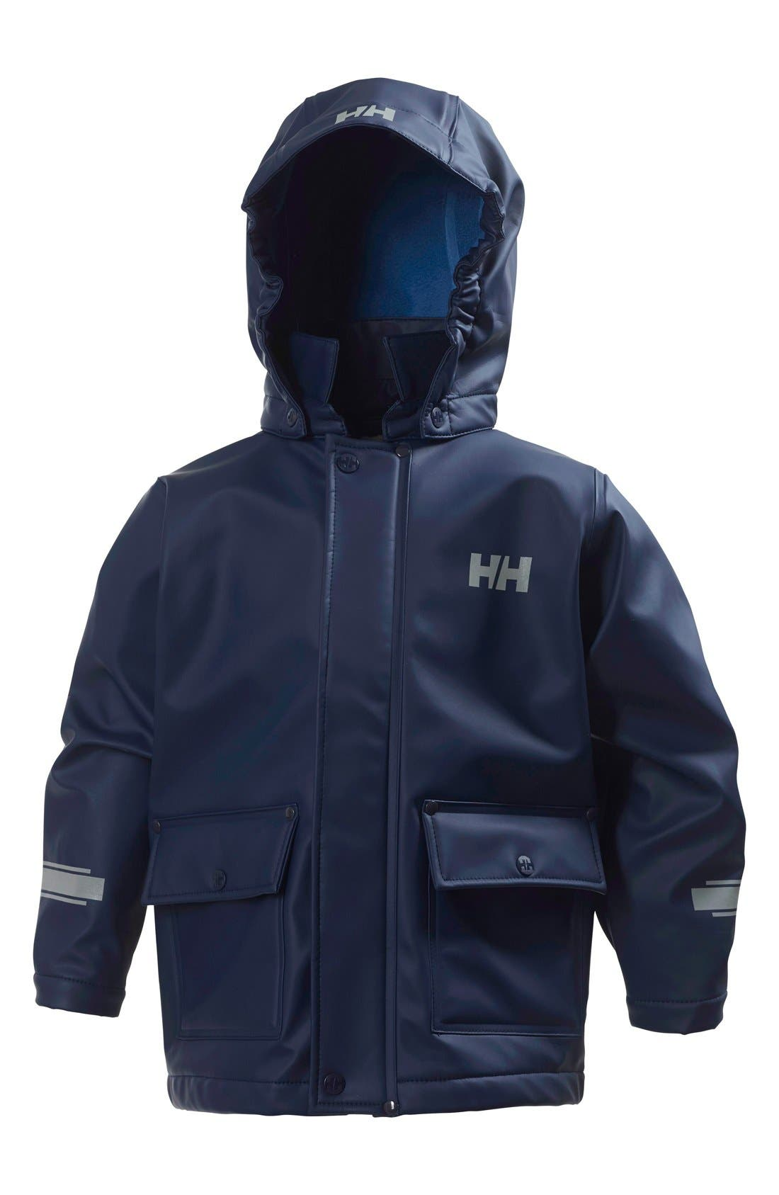 Main Image - Helly Hansen Juell Hooded Waterproof Jacket (Toddler Boys & Little Boys)