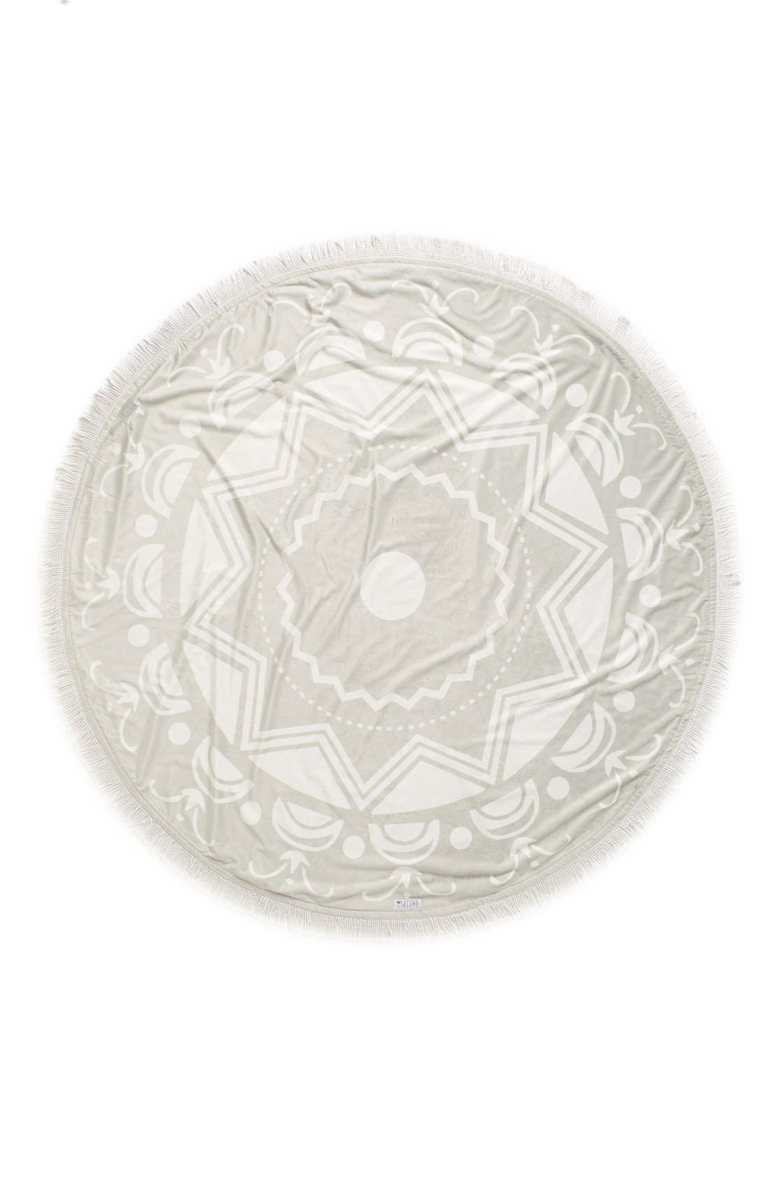 Bliss<sup>™</sup> Round Blanket,                             Alternate thumbnail 2, color,                             Silver