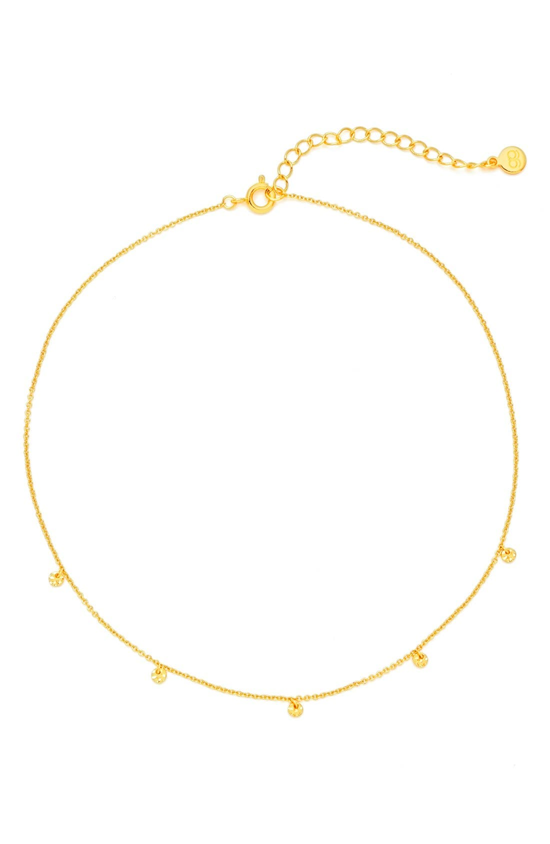 Charm Choker Necklace,                         Main,                         color, Gold