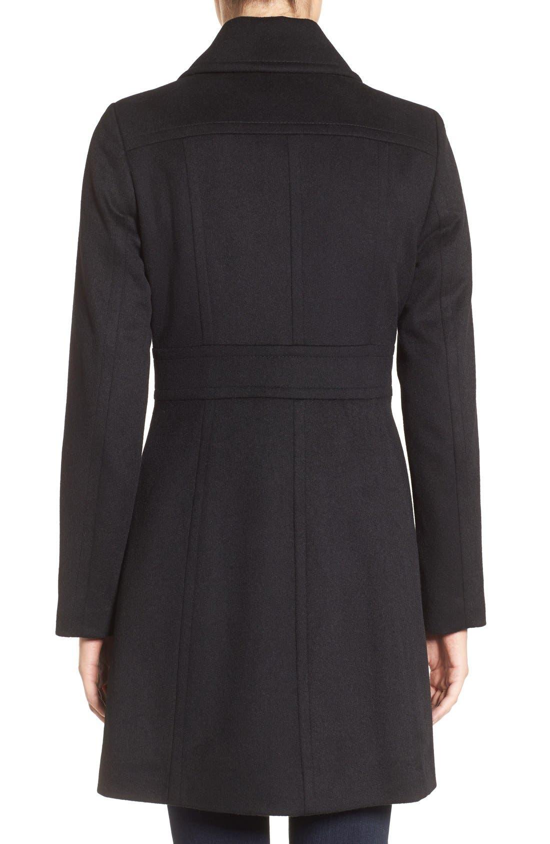 Alternate Image 2  - Kristen Blake Wool Blend Walking Coat (Regular & Petite)