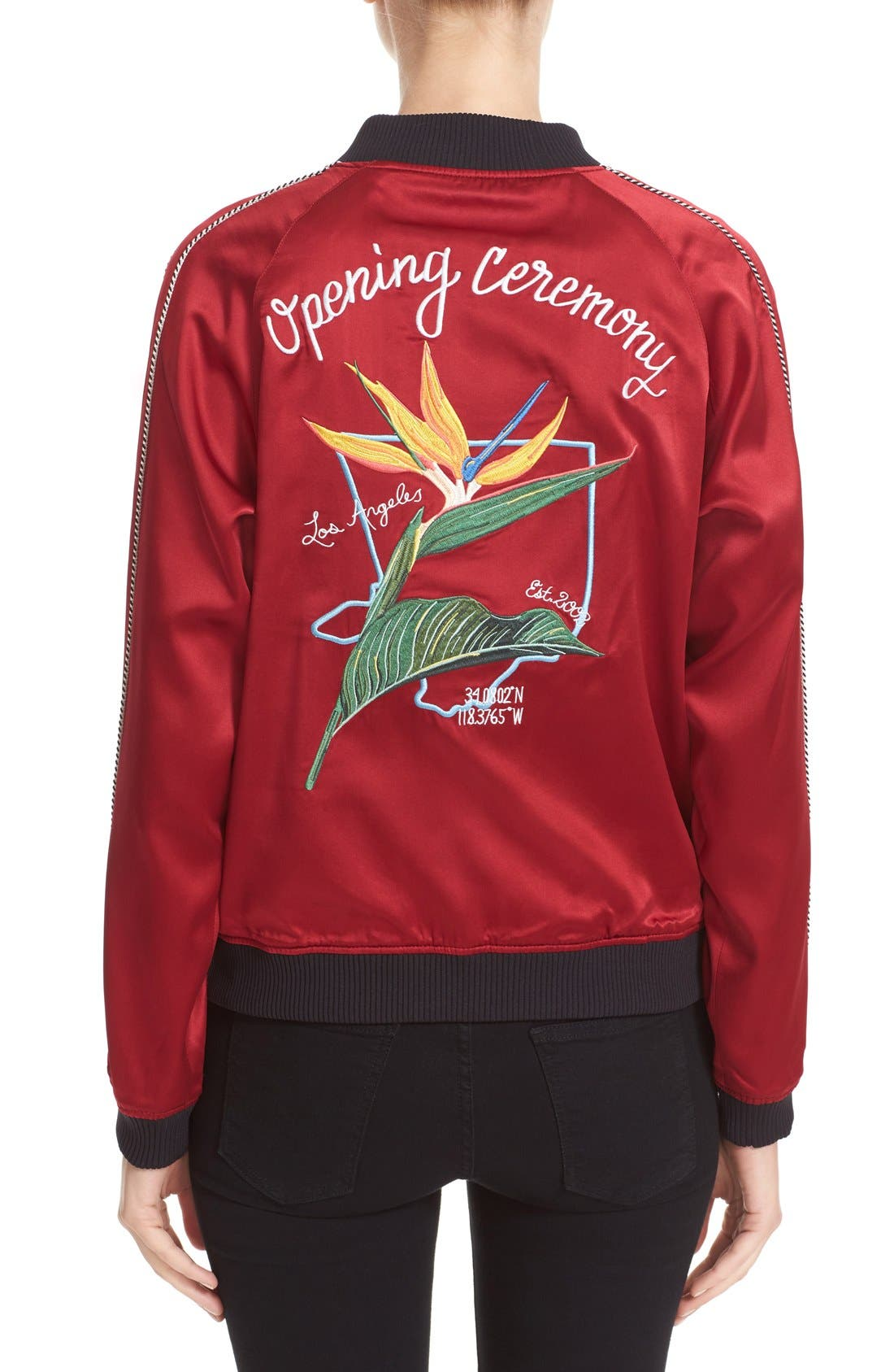 Alternate Image 2  - Opening Ceremony L.A. Souvenir Reversible Bomber Jacket