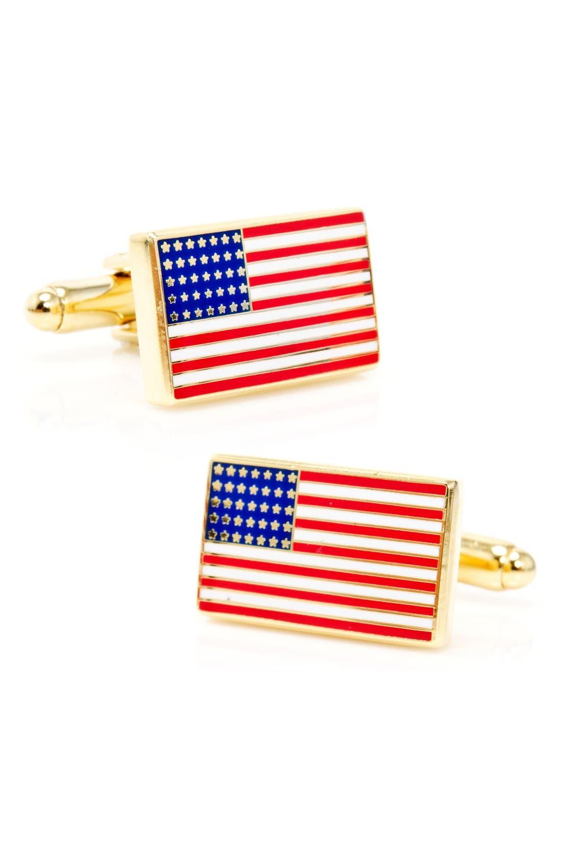 Main Image - Cufflinks, Inc. 'American Flag' Cuff Links