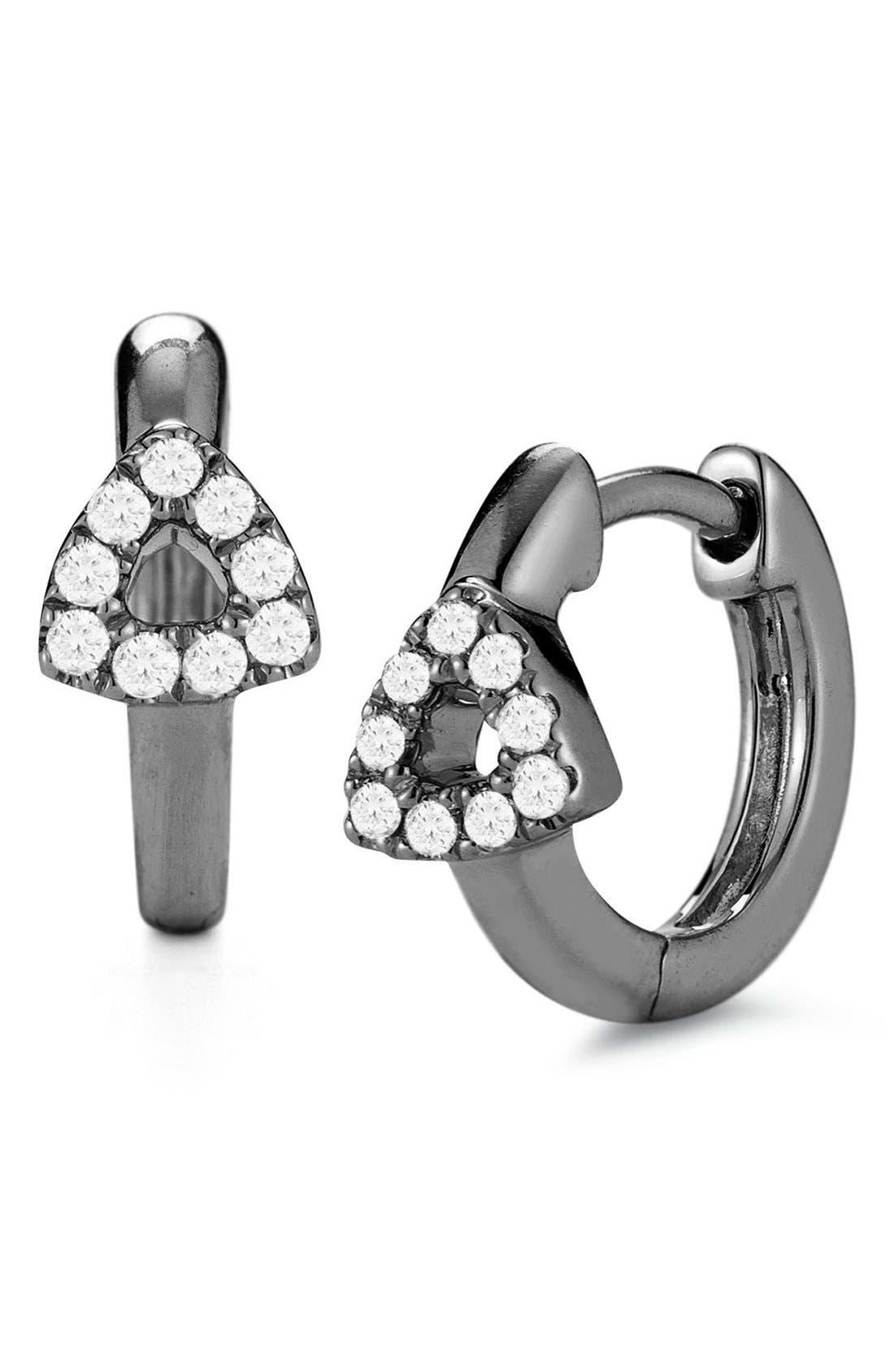 Main Image - Dana Rebecca Designs Open Triangle Hoop Earrings