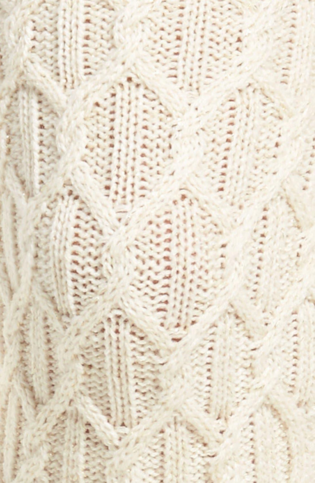 Alternate Image 2  - UGG® Sparkle Cable Knit Socks