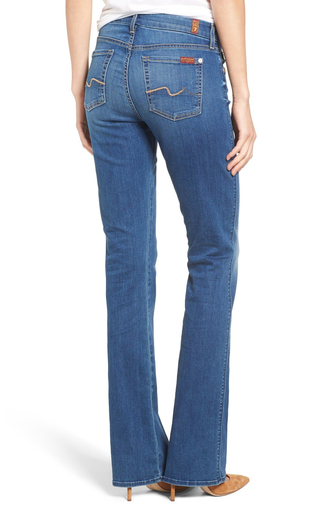 Alternate Image 2  - 7 For All Mankind® 'b(air) - Kimmie' Straight Leg Jeans (Duchess)