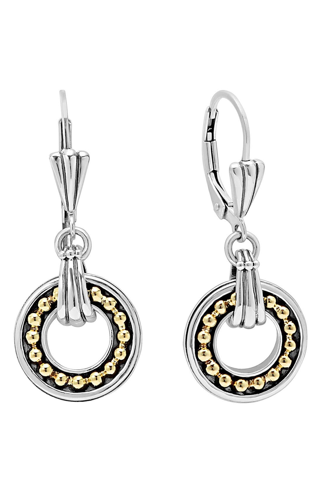 LAGOS Enso Two Tone Drop Earrings