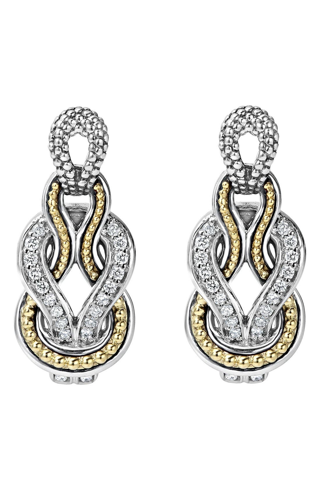 Alternate Image 2  - LAGOS 'Newport' Diamond Knot Earrings