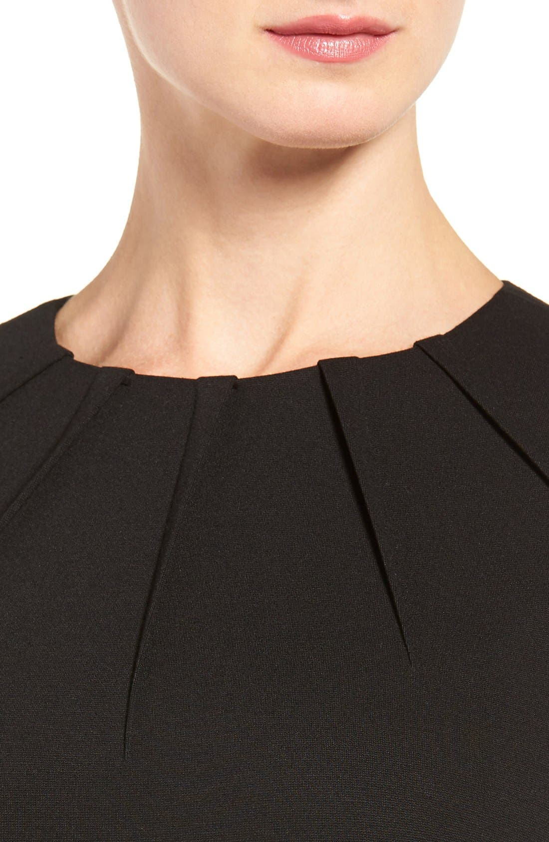 Alternate Image 4  - Classiques Entier® Pleat Neck Italian Ponte Sheath Dress