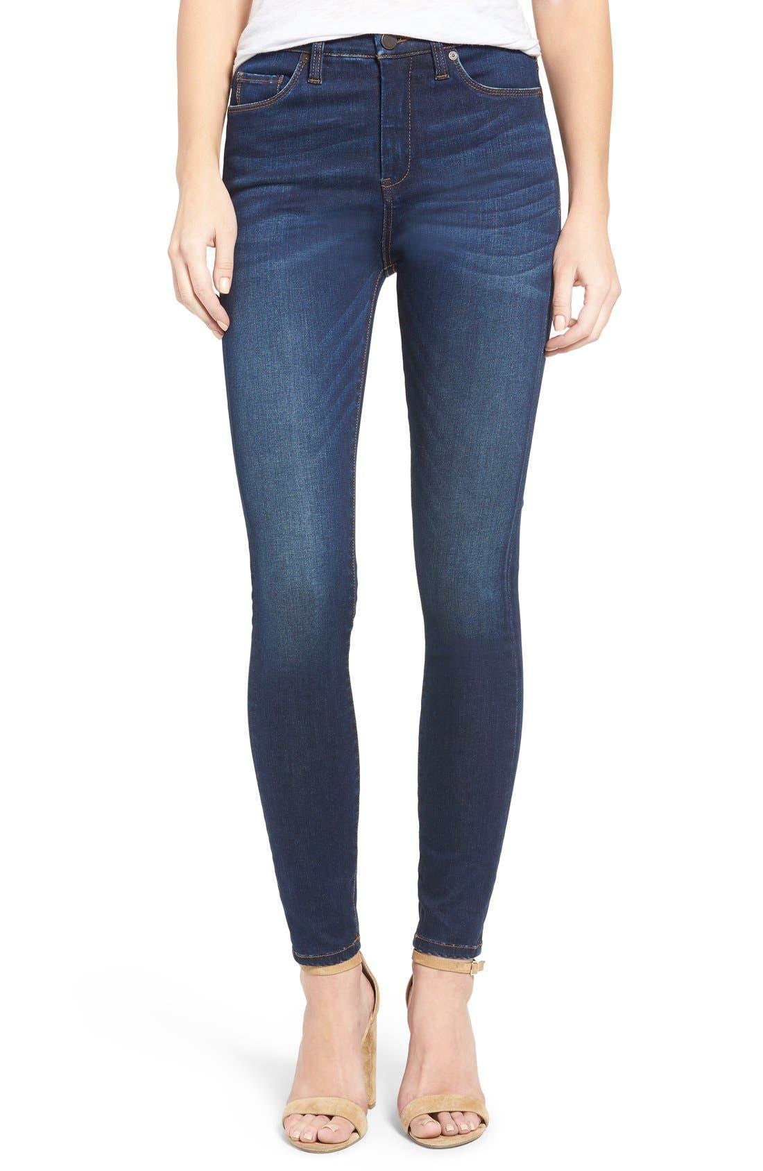 Main Image - BLANKNYC Fool Me Twice Skinny Jeans