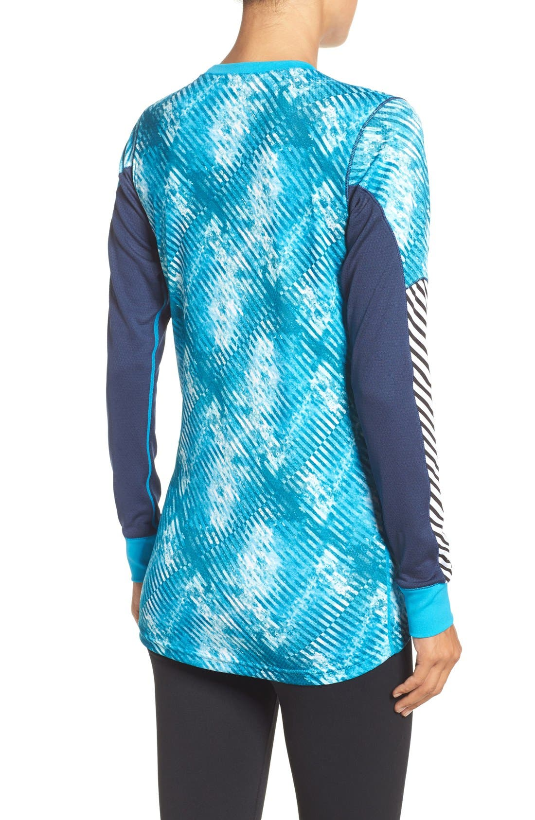 Active Flow Graphic Top,                             Alternate thumbnail 2, color,                             Winter Aqua