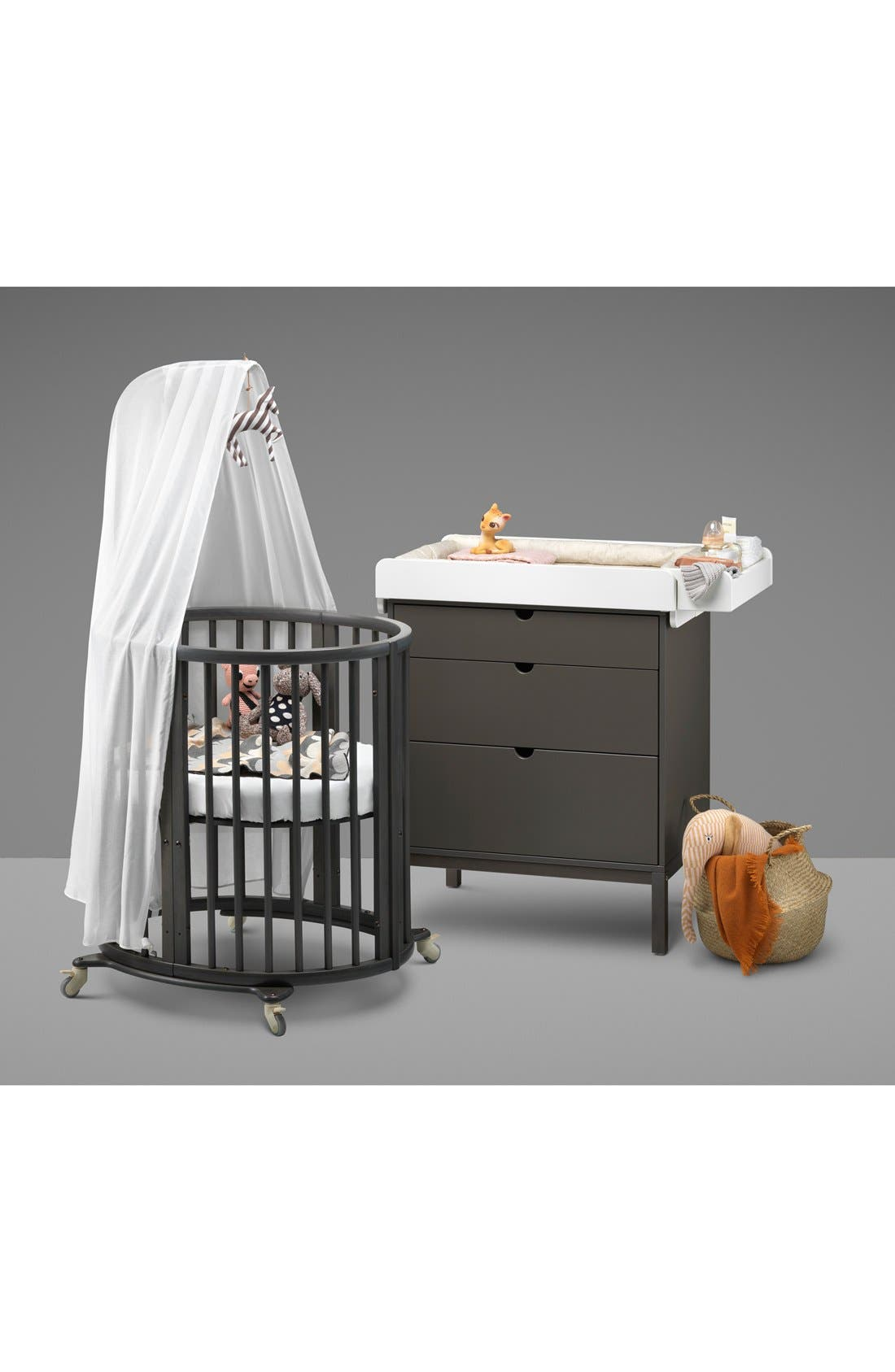 Convertible Sleepi Crib & Toddler Bed,                             Alternate thumbnail 3, color,                             Hazy Grey