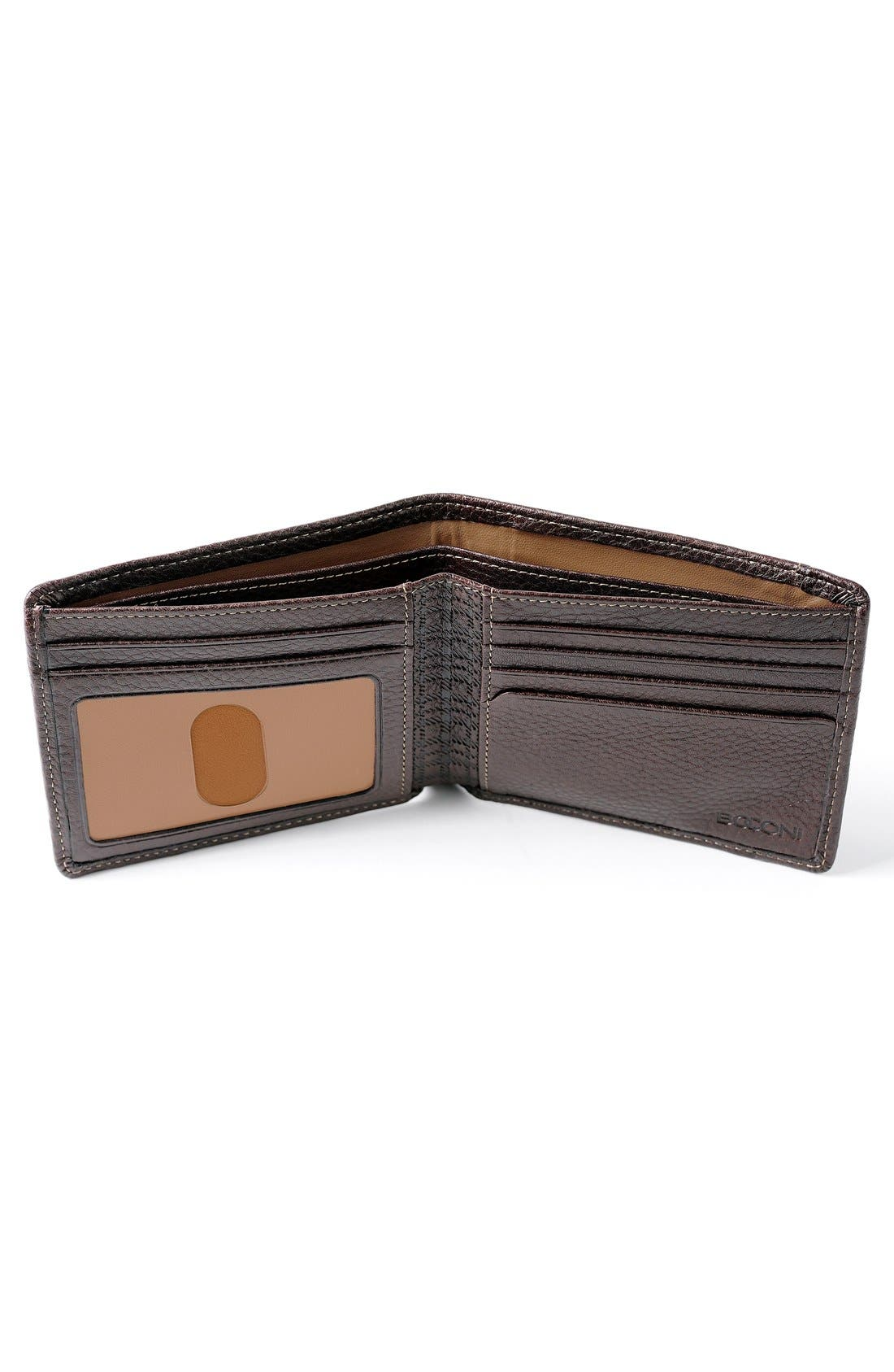 'Tyler' RFID Wallet,                             Alternate thumbnail 2, color,                             Coffee