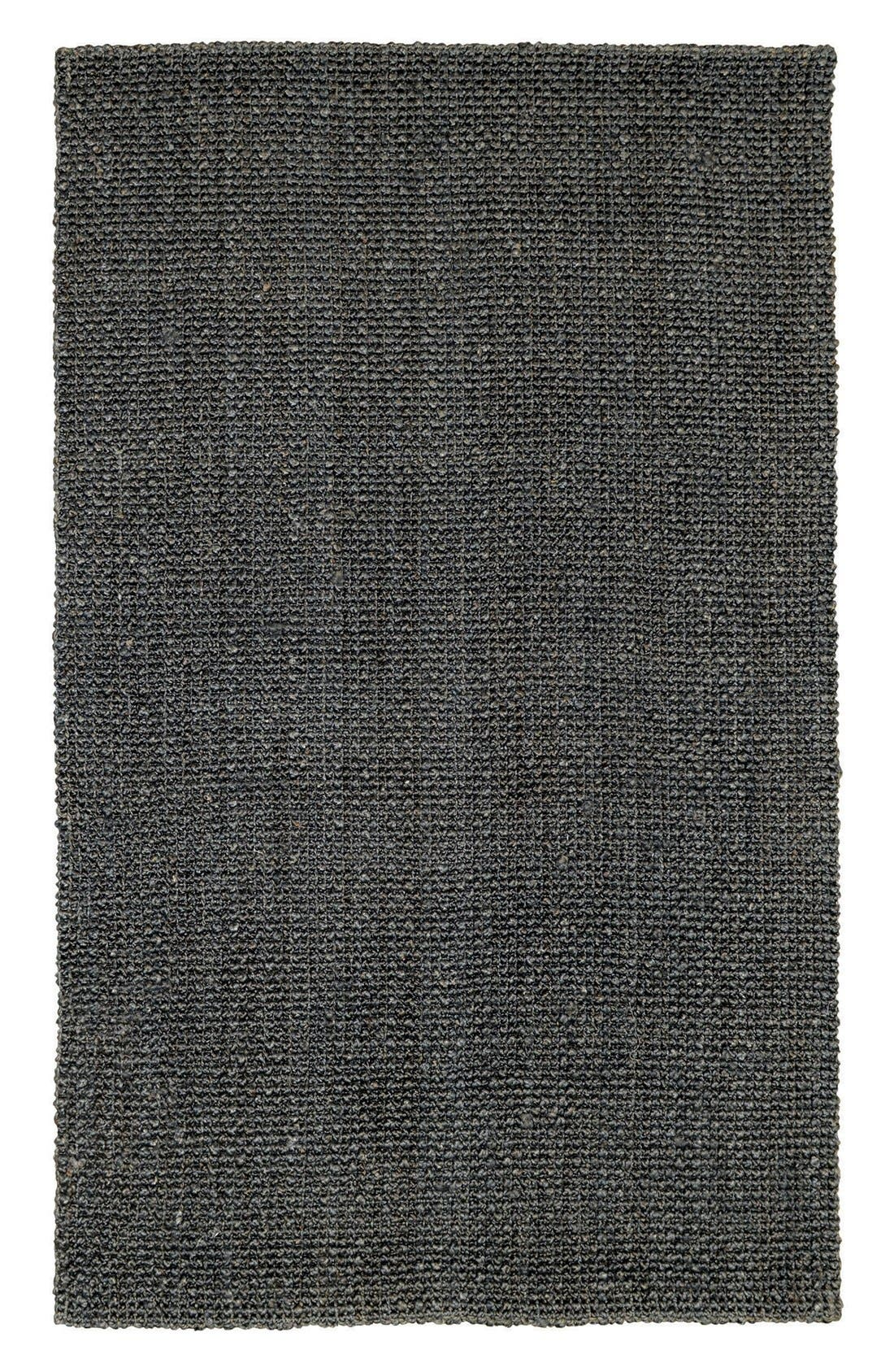Knobby Loop Handwoven Rug,                             Main thumbnail 1, color,                             Charcoal