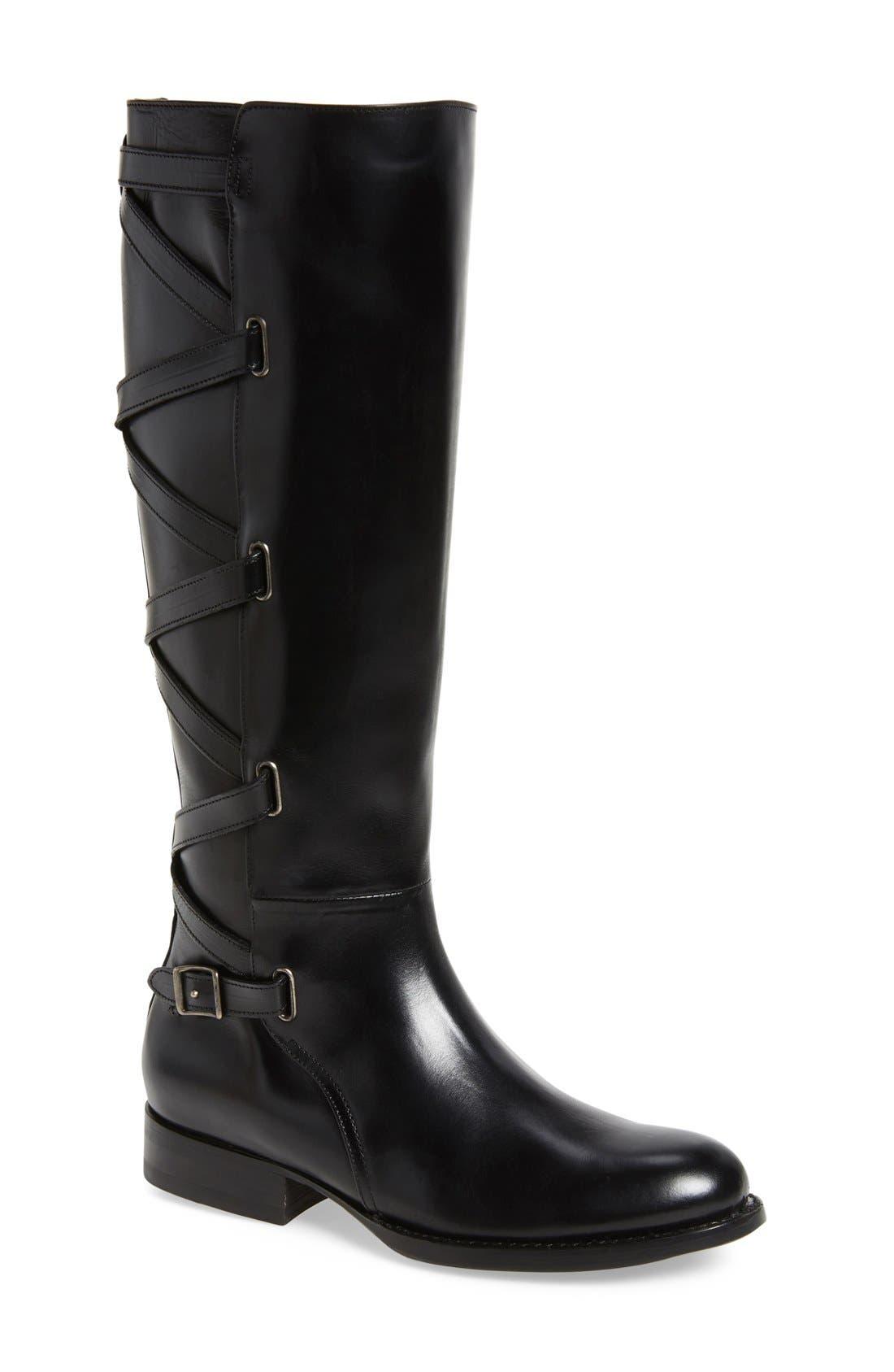 Alternate Image 1 Selected - Frye Jordan Strappy Knee High Boot (Women)