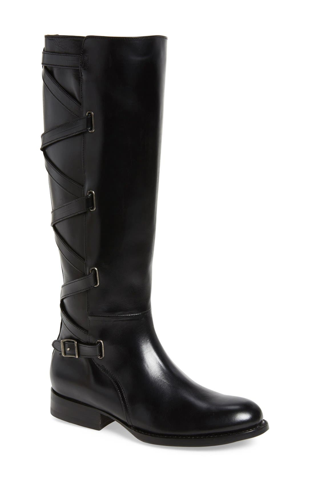 Main Image - Frye Jordan Strappy Knee High Boot (Women)