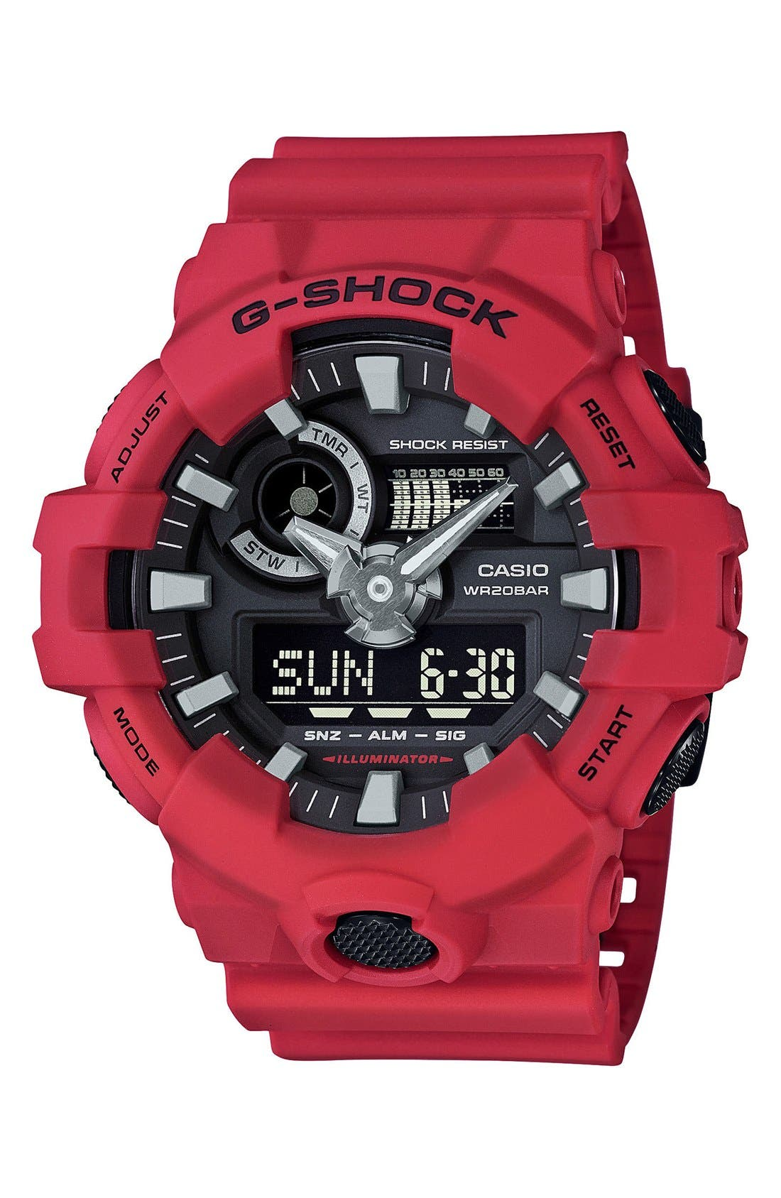 G-Shock Front Button Watch, 55mm