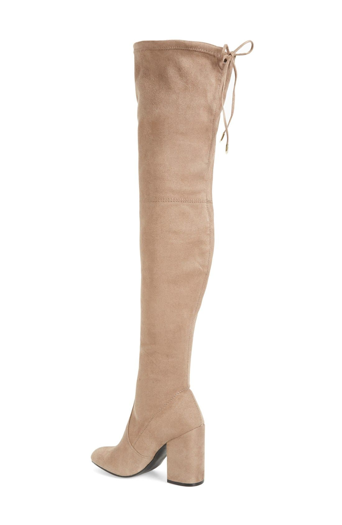 Norri Over the Knee Boot,                             Alternate thumbnail 2, color,                             Taupe