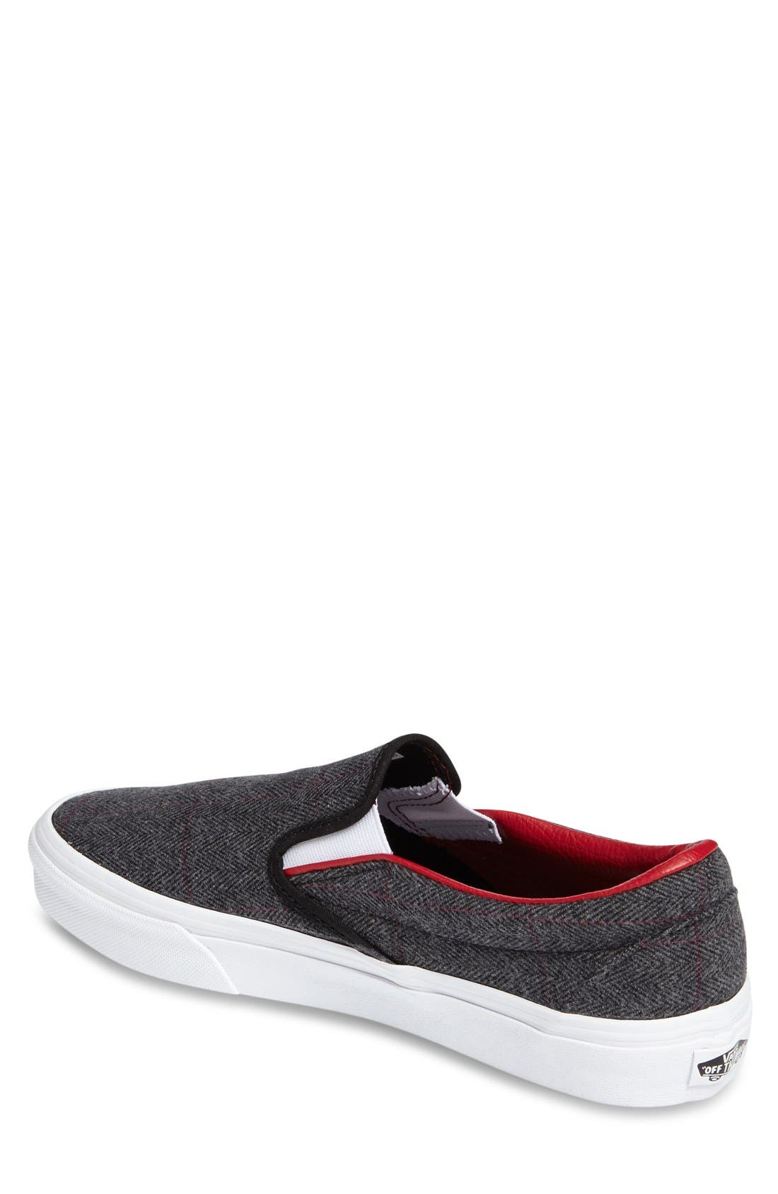 'Classic' Slip-On Sneaker,                             Alternate thumbnail 3, color,                             Black/ True White