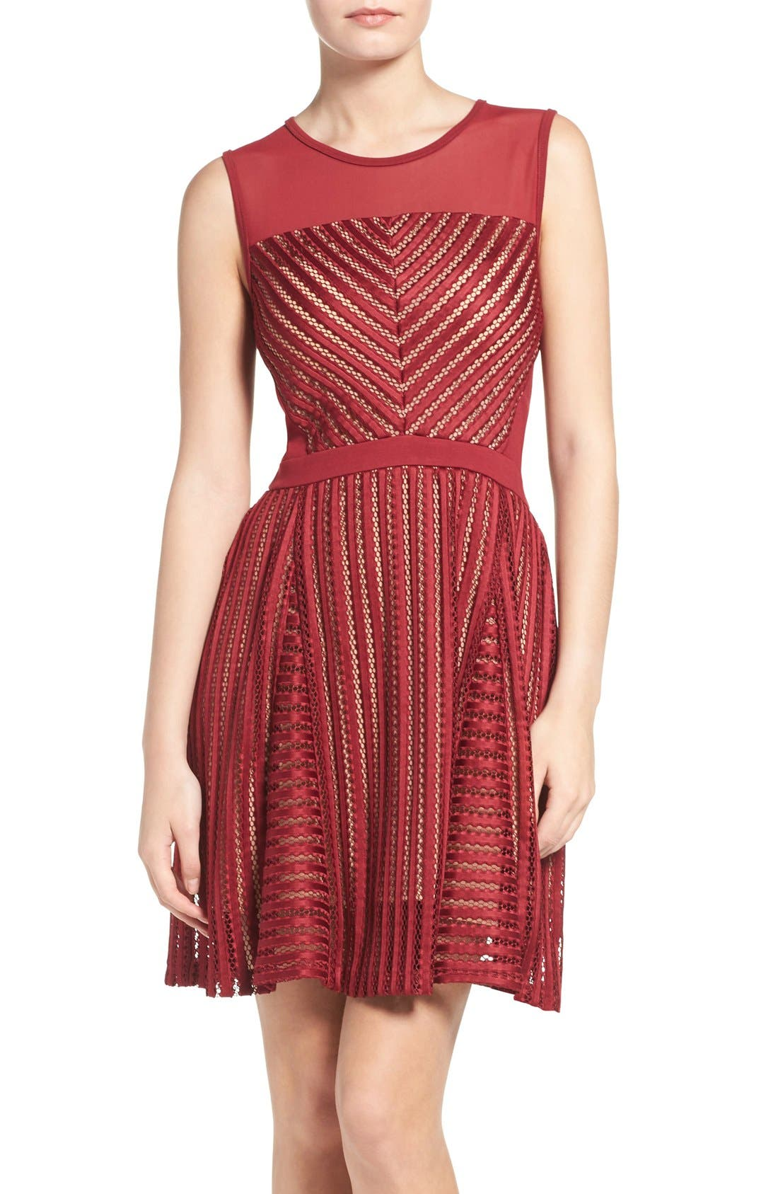 French Connection Fast Score Shadow Stripe Dress