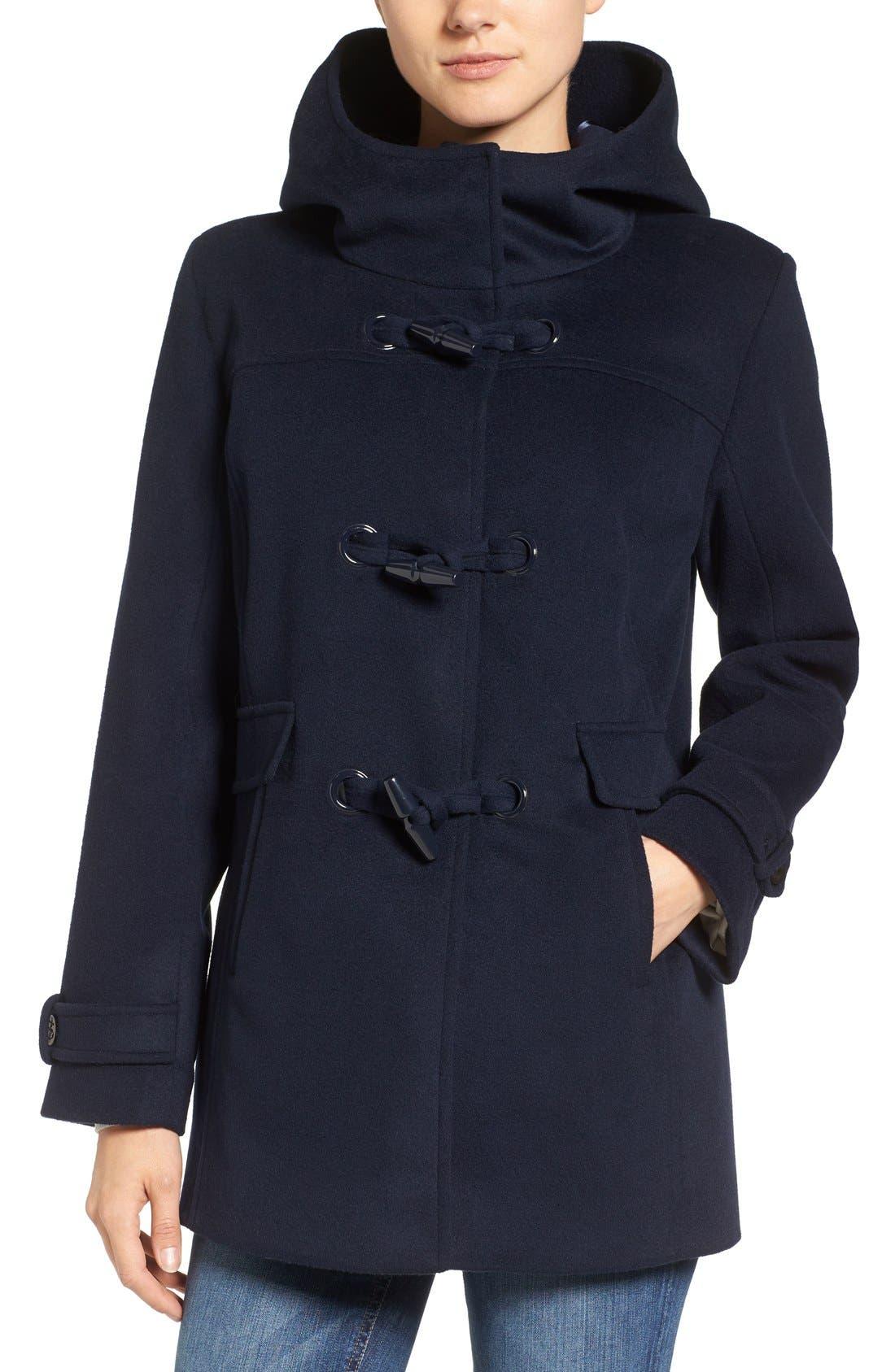 Main Image - Pendleton Roslyn Waterproof Lambswool Blend Hooded Coat