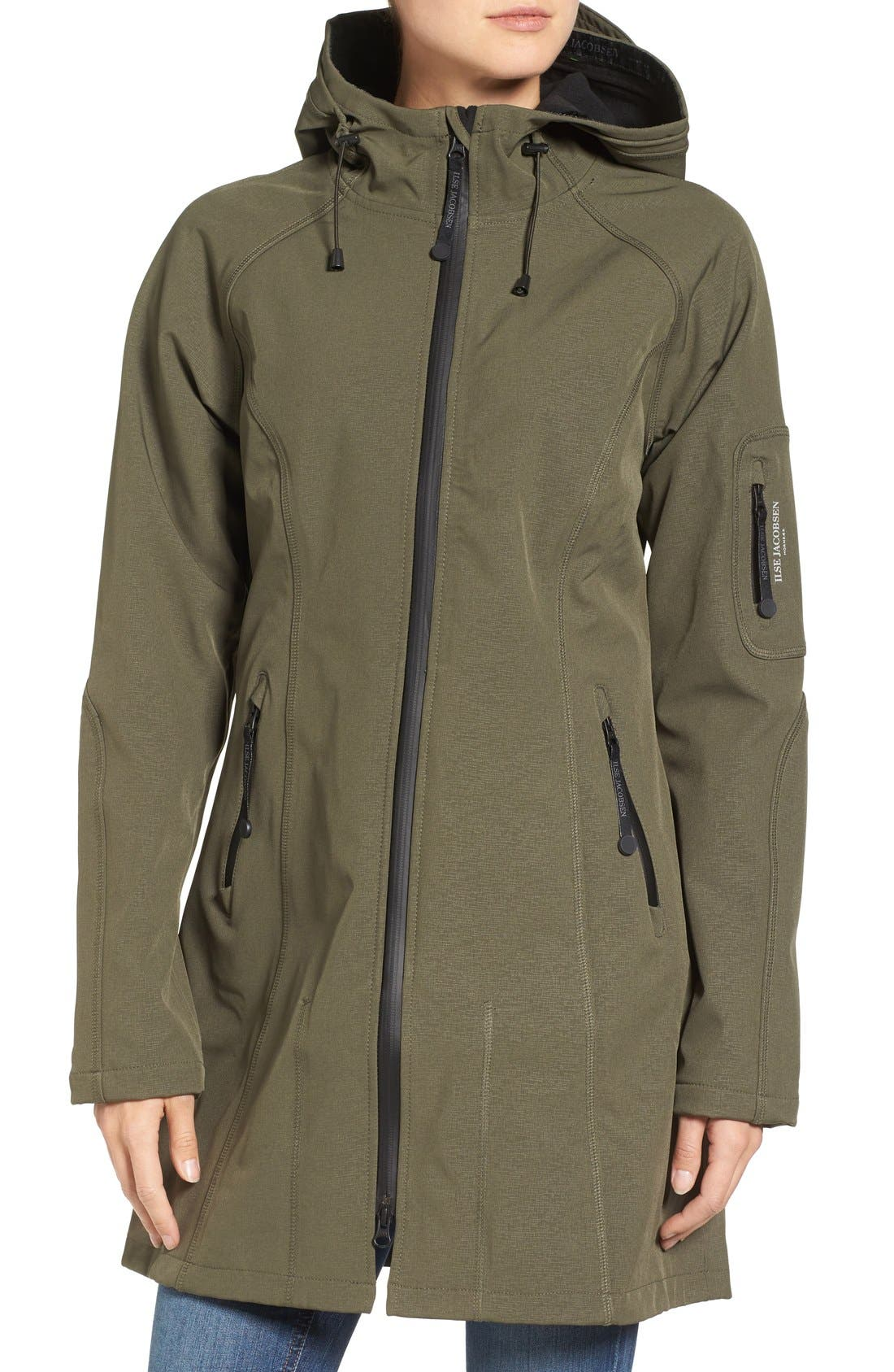 Alternate Image 4  - Ilse Jacobsen Regular Fit Hooded Raincoat