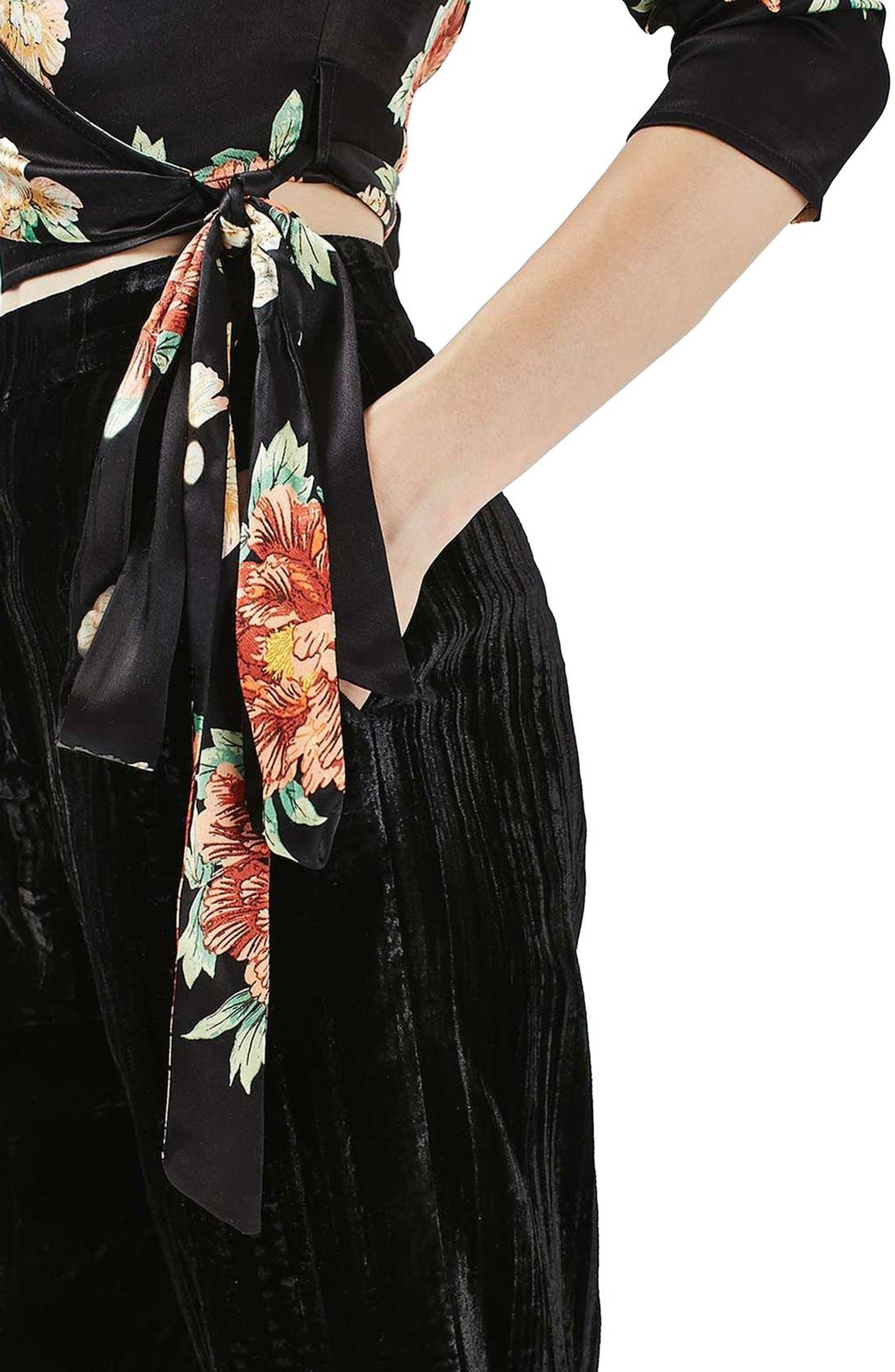 Alternate Image 5  - Topshop Sophia Floral Satin Wrap Top