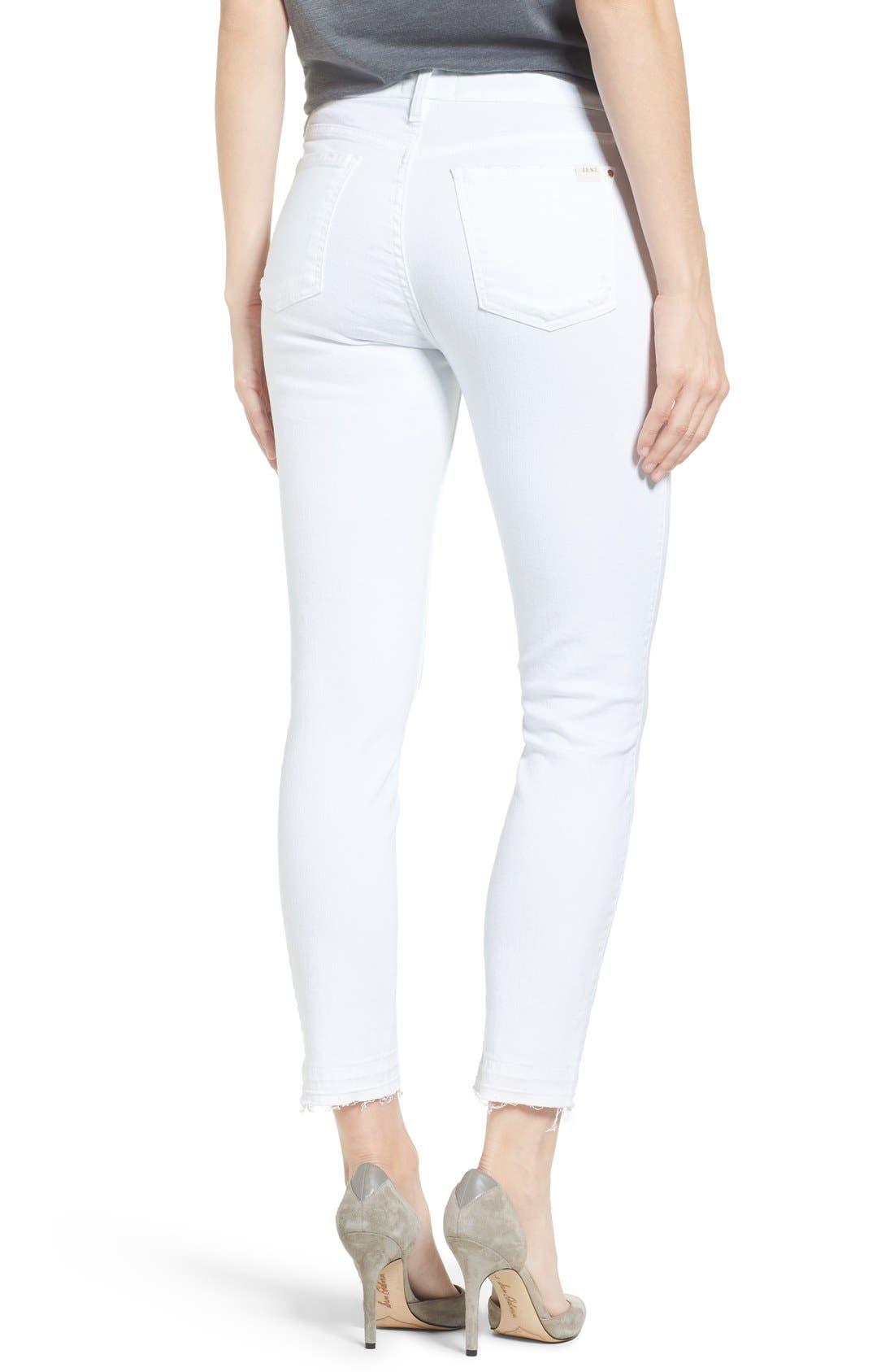 Alternate Image 2  - Jen7 Release Hem Stretch Skinny Ankle Jeans