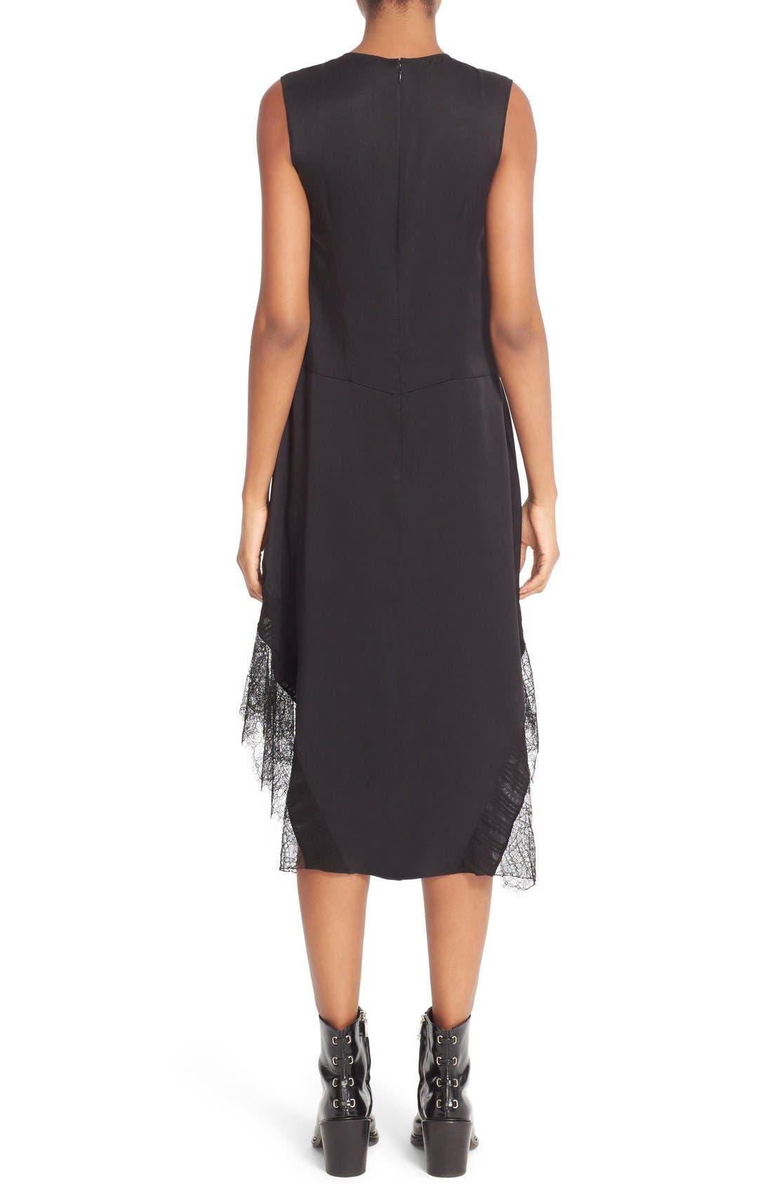 Alternate Image 2  - Belstaff Jasmine Lace Inset Silk Midi Dress