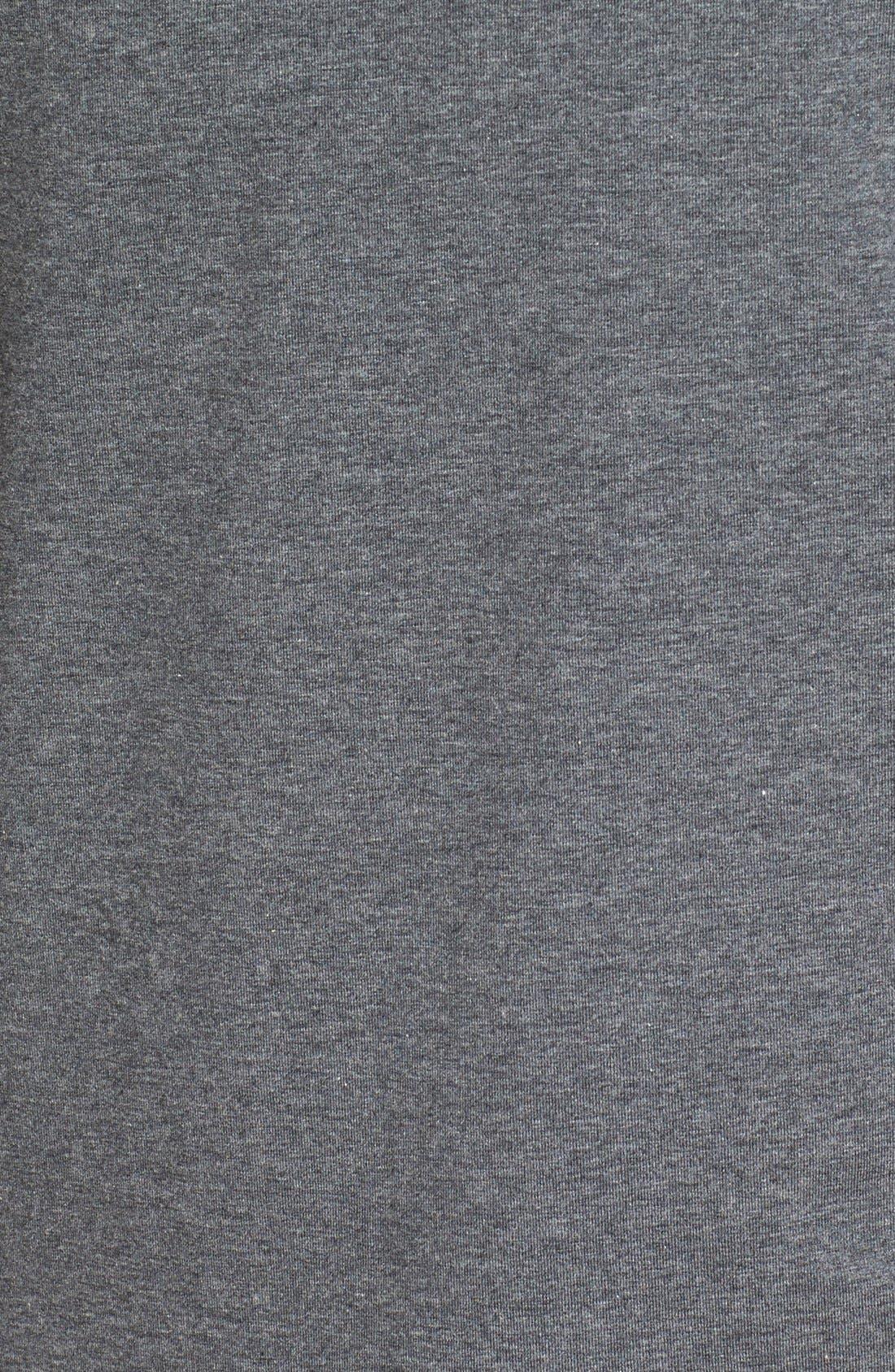 Long Sleeve Turtleneck T-Shirt,                             Alternate thumbnail 5, color,                             Charcoal