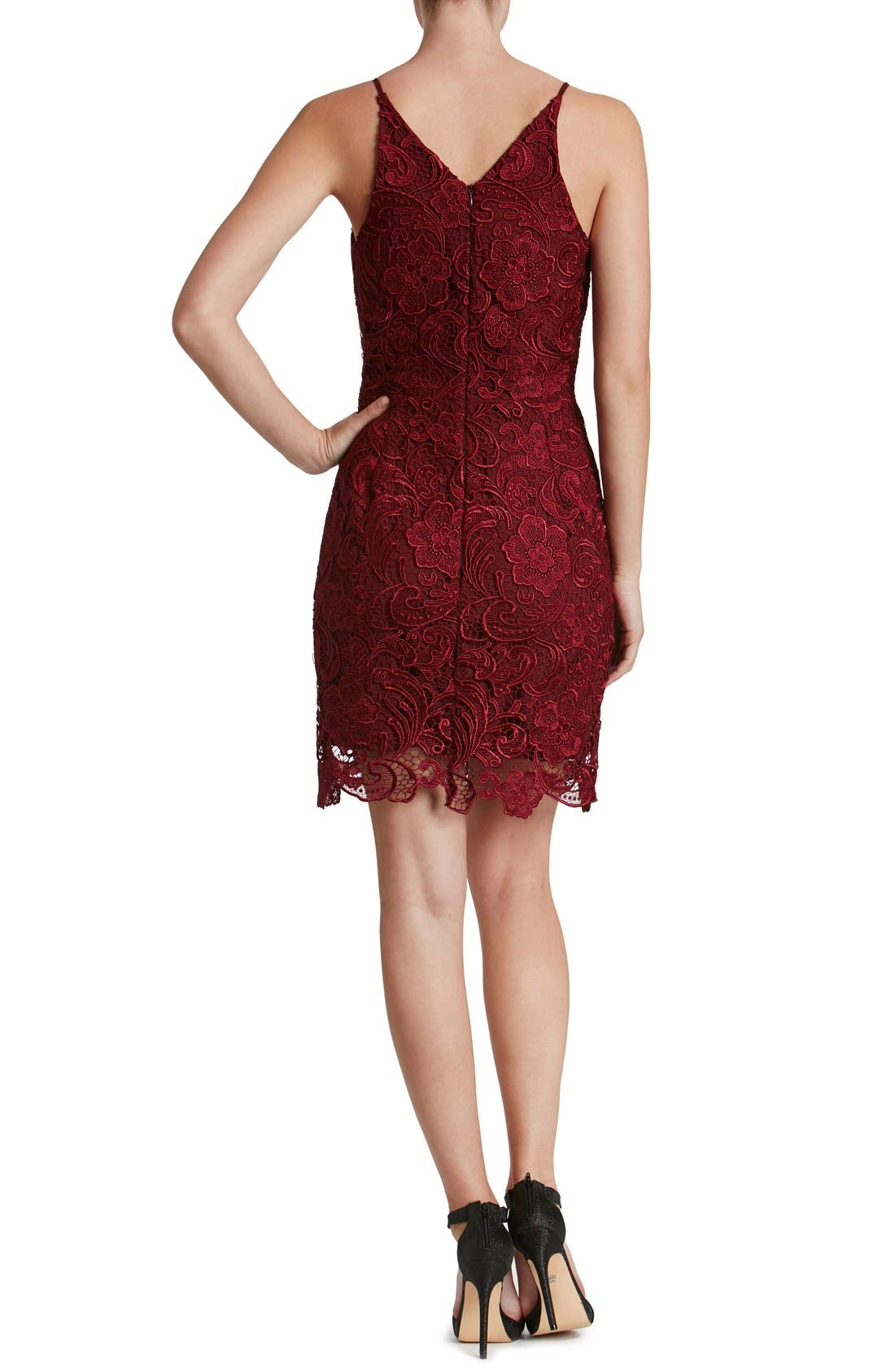 Alternate Image 2  - Dress the Population Ava Lace Minidress